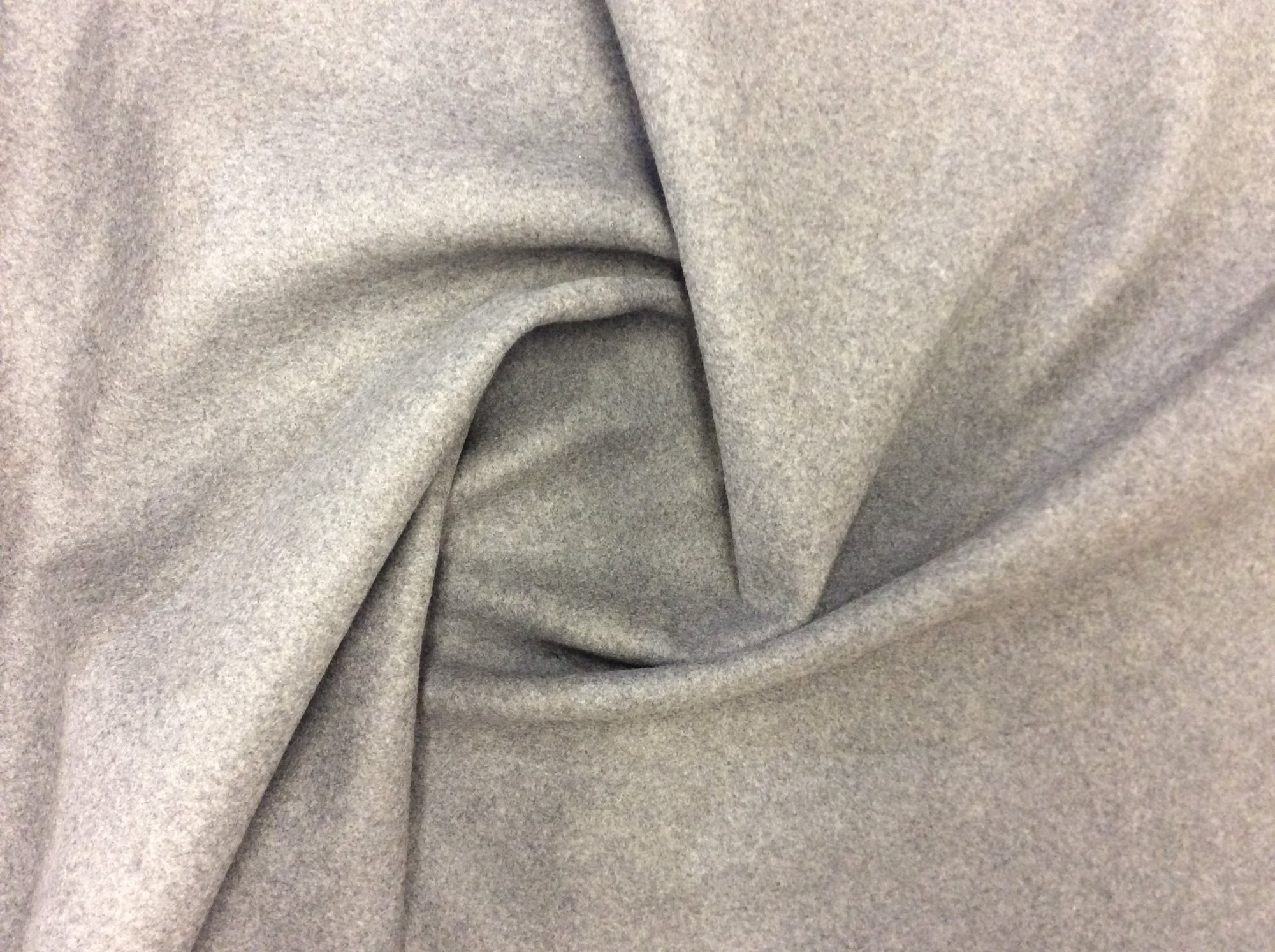 Trina Turk Gray Backed Wool Flannel Outerwear Apparel Fabric Made in Italy TT4965