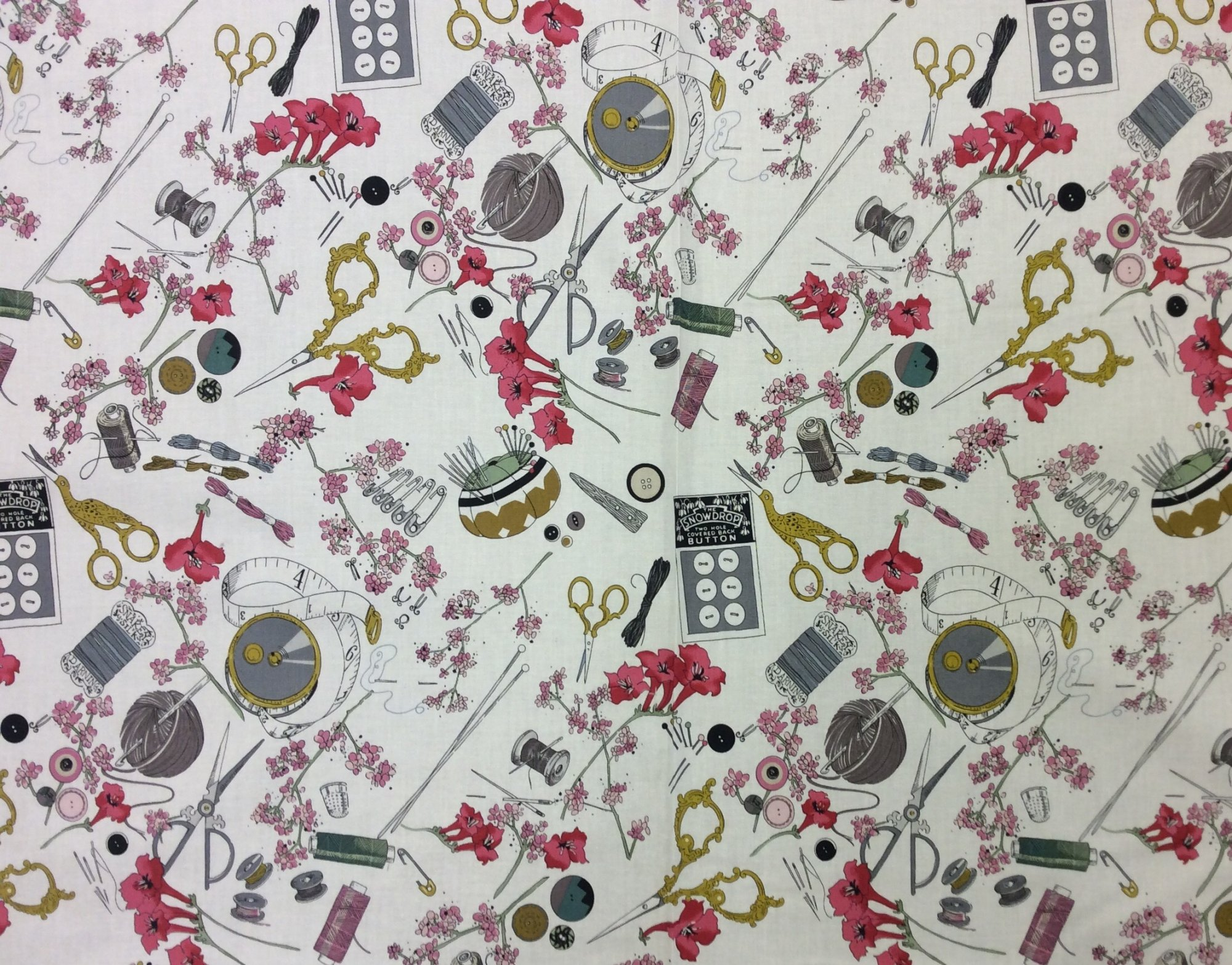 A Ghastlie Notion Sewing Notions Ghastlies Cotton Quilt Fabric AH318