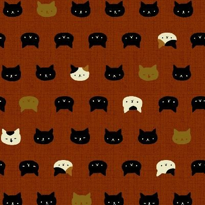 Neko Kitty Cat Japanese Asian Cotton Quilt Fabric QG20