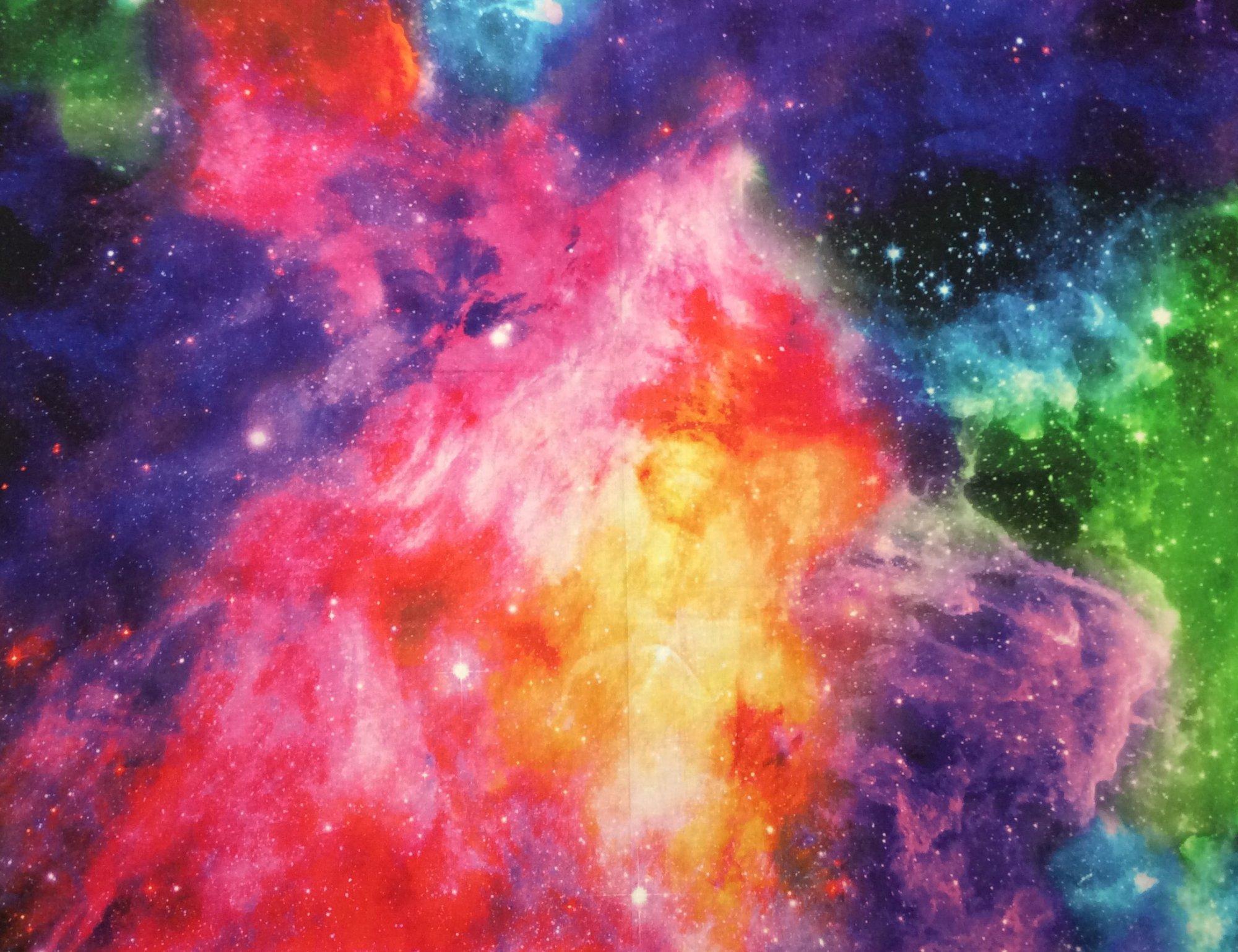 Galaxy Night Sky Starry Night Deep Space Cotton Quilt Fabric NC23