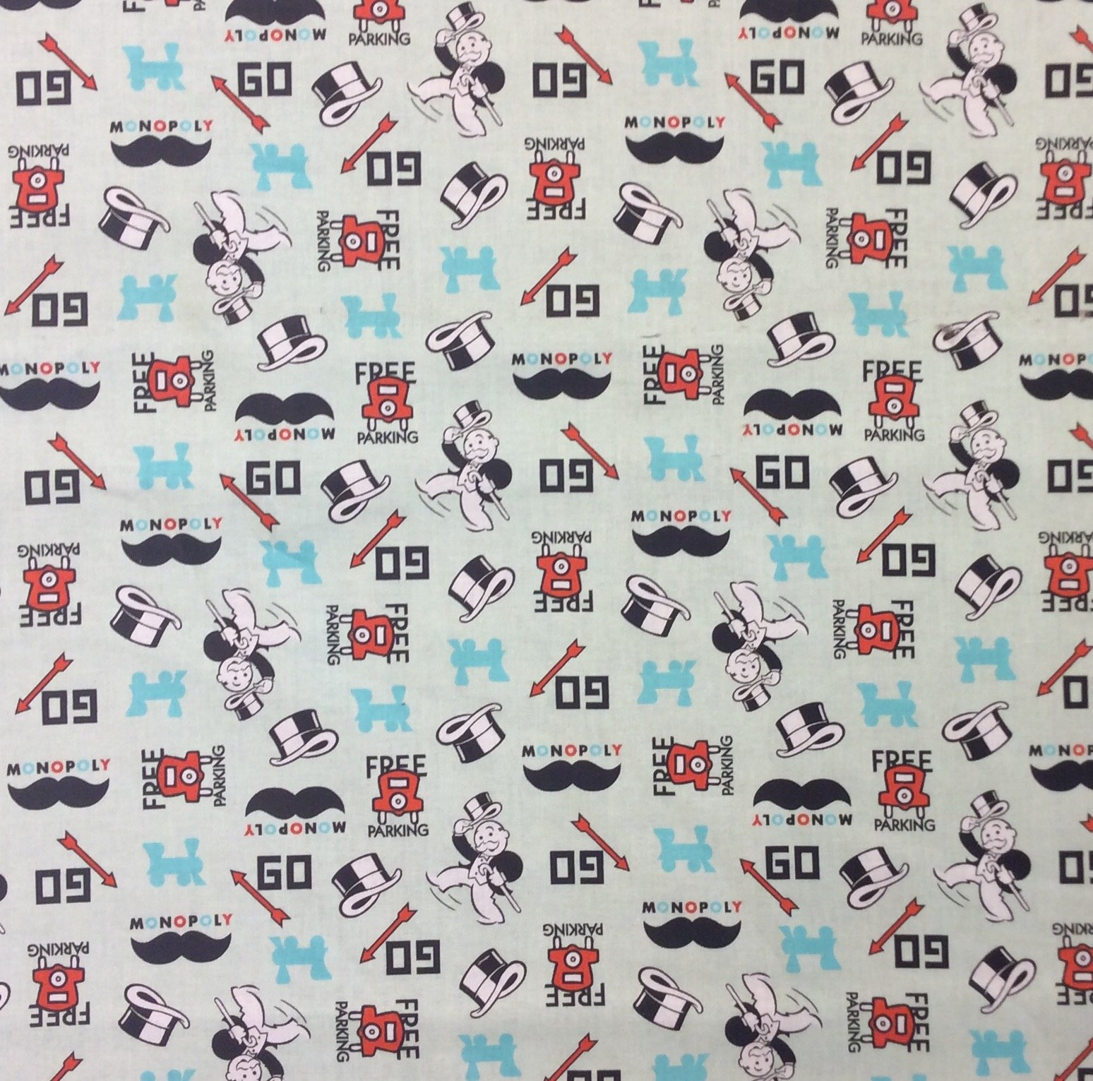 Monopoly Hasbro Board Game Cotton Quilt Fabric FT177
