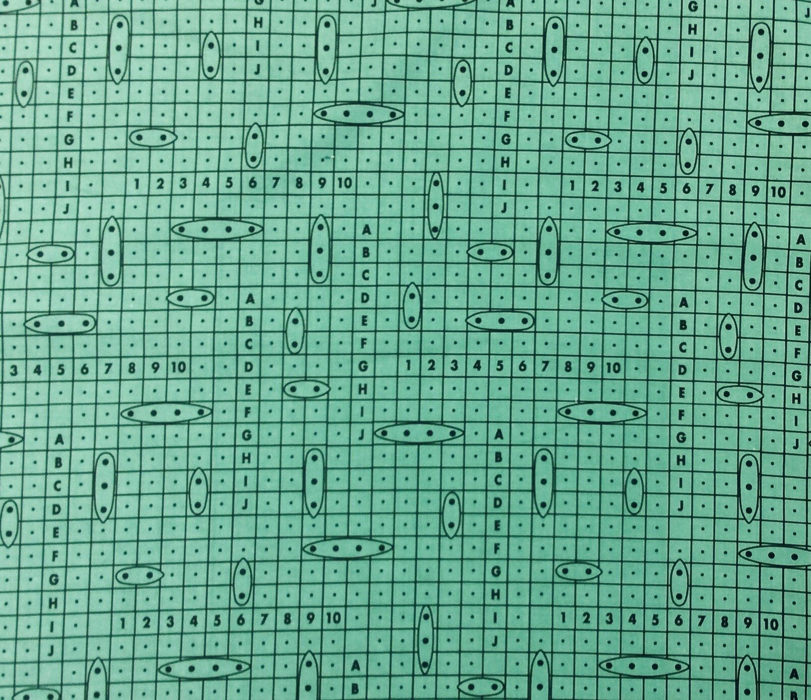 You Sunk My Battleship! Hasbro Classic Board Game Retro Cotton Quilt Fabric FT175
