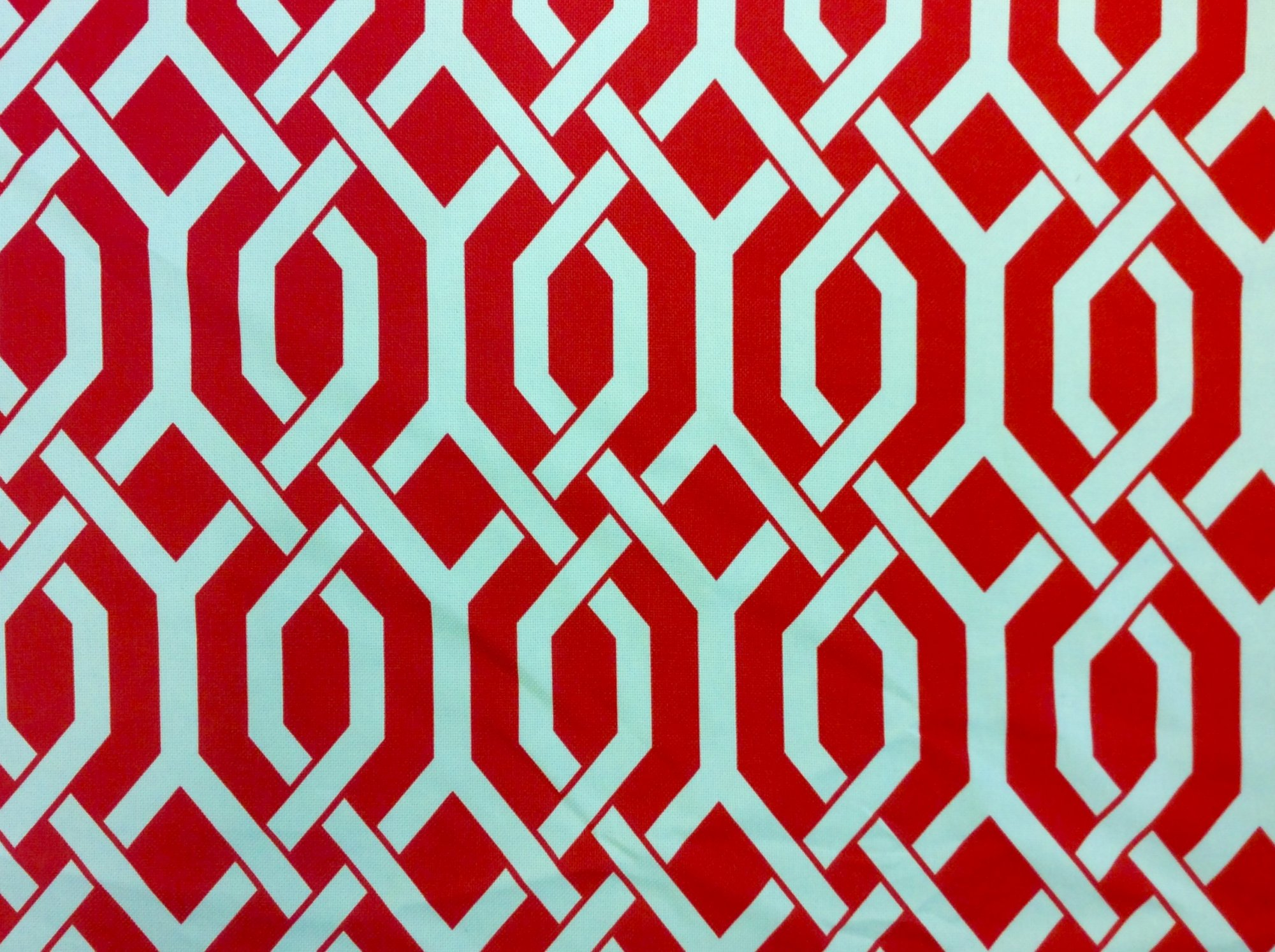 Lattice Modern Geometric Adler Lattice Style Famous Maker Soft Thick Acrylic Outdoor Fabric Slubby Barkcloth Texture Coral Orange Red Colorway S580