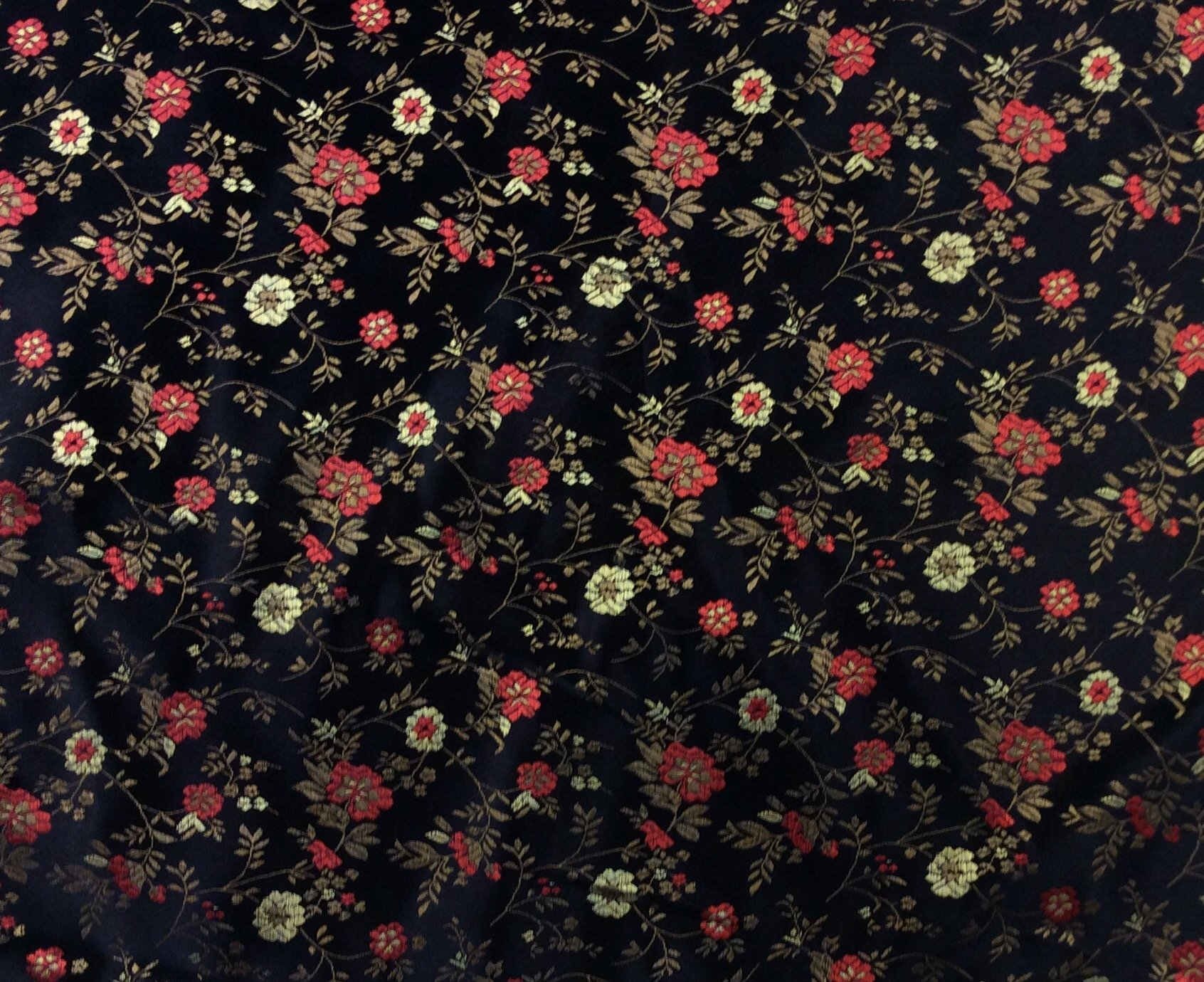 Floral Brocade Asian Influence Apparel Sewing Fabric NB2005