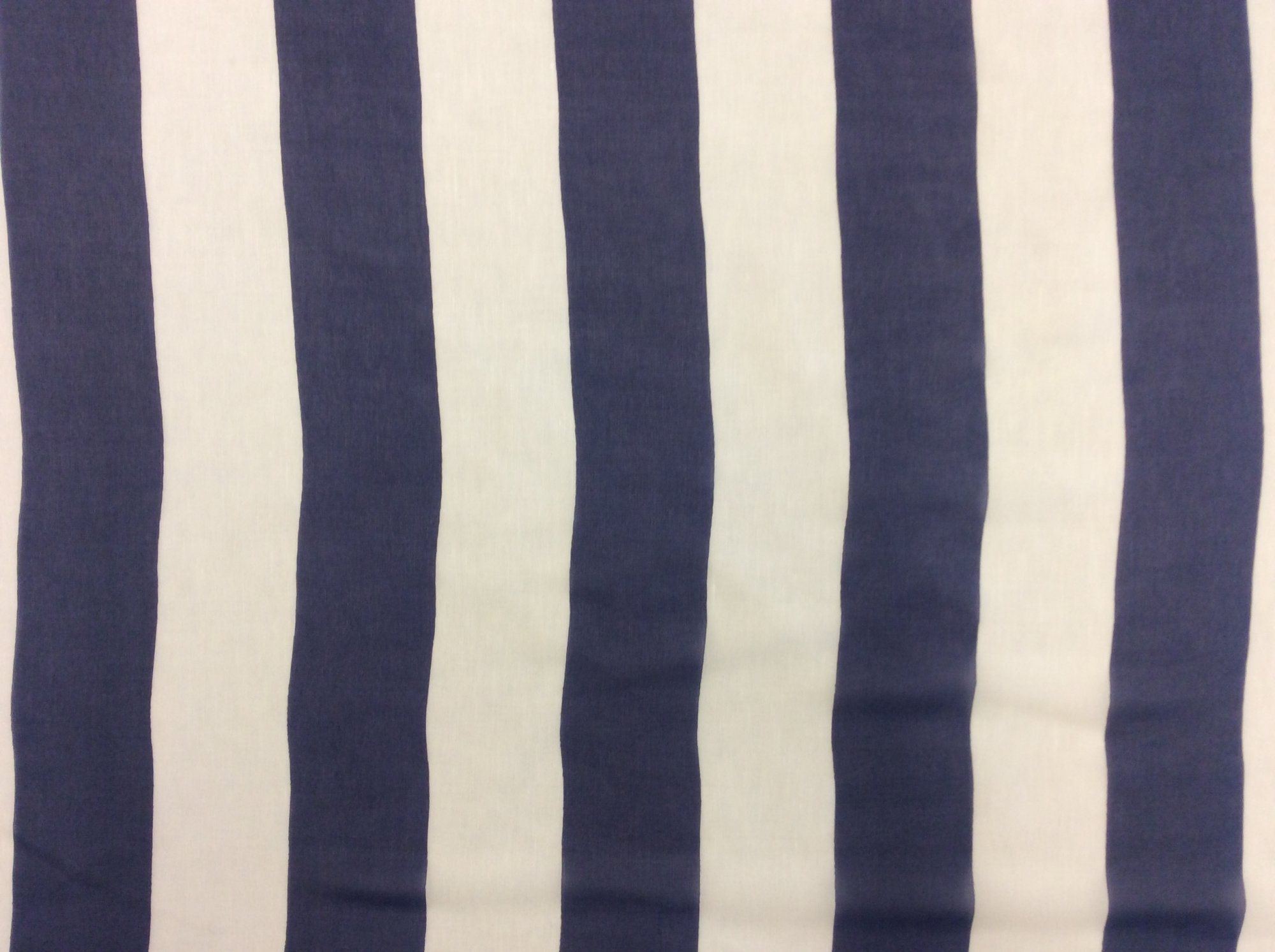 Navy and White Nautical Stripe Silk Chiffon 100% Silk Apparel Fabric WR4073