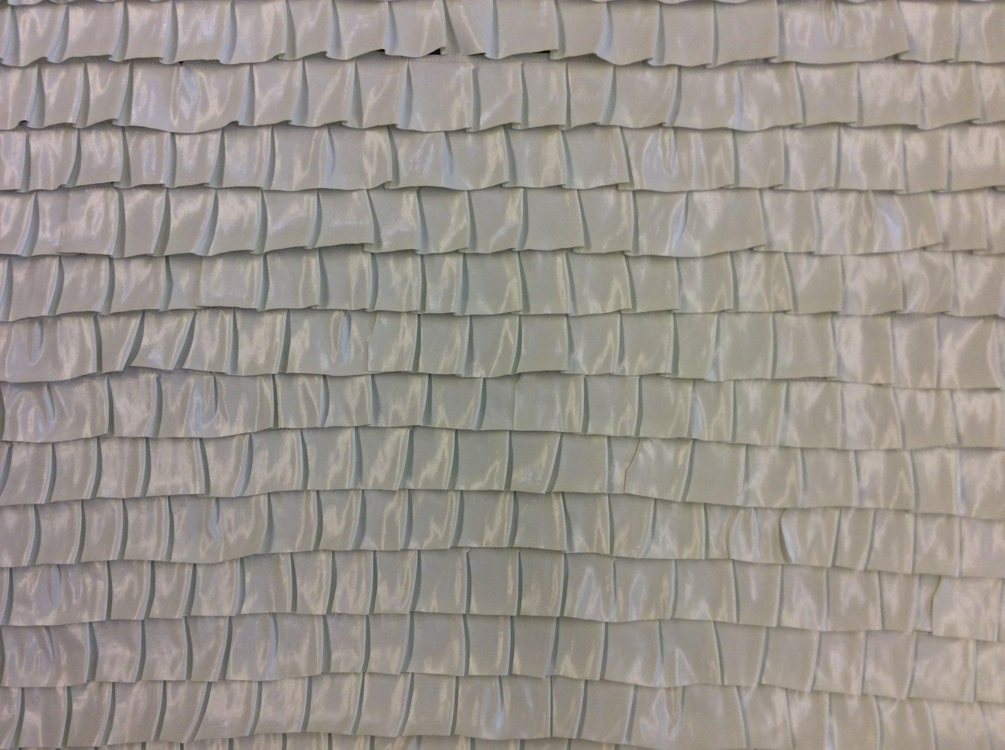 Ruffled Cream Vinyl Made in Japan Apparel Sewing Fabric RA3329