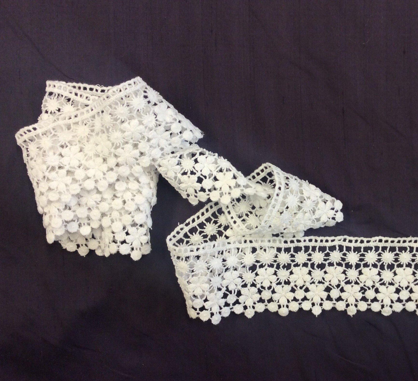 White Cotton Lace Like Trim Apparel Sewing Ribbon BLT647