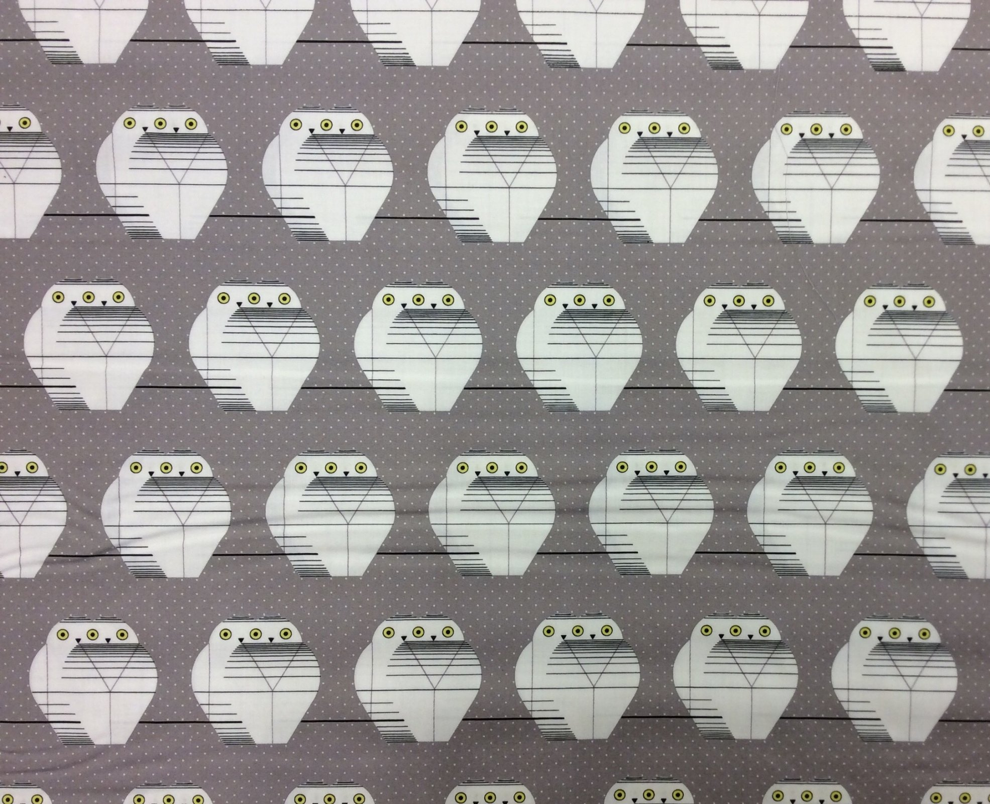 Charley Harper Holiday Twowls Organic Cotton Mid Century Owl Winter Holiday Cotton Quilting Fabric CHB110