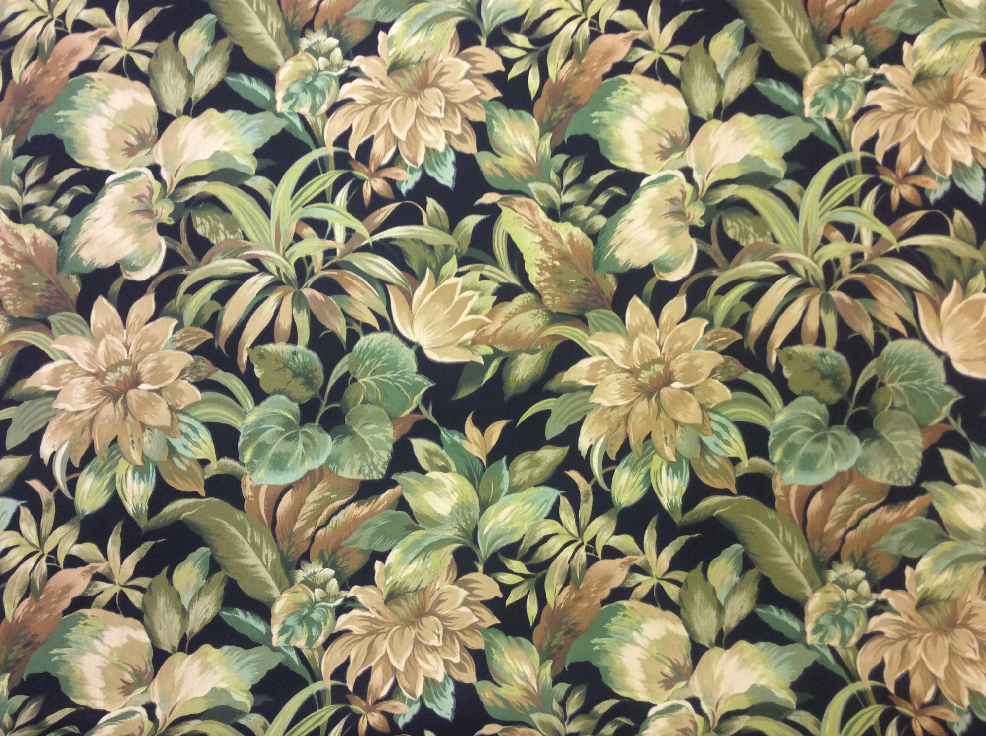Large Scale Floral Tropical Outdoor Fabric Acrylic Print Fabric s307