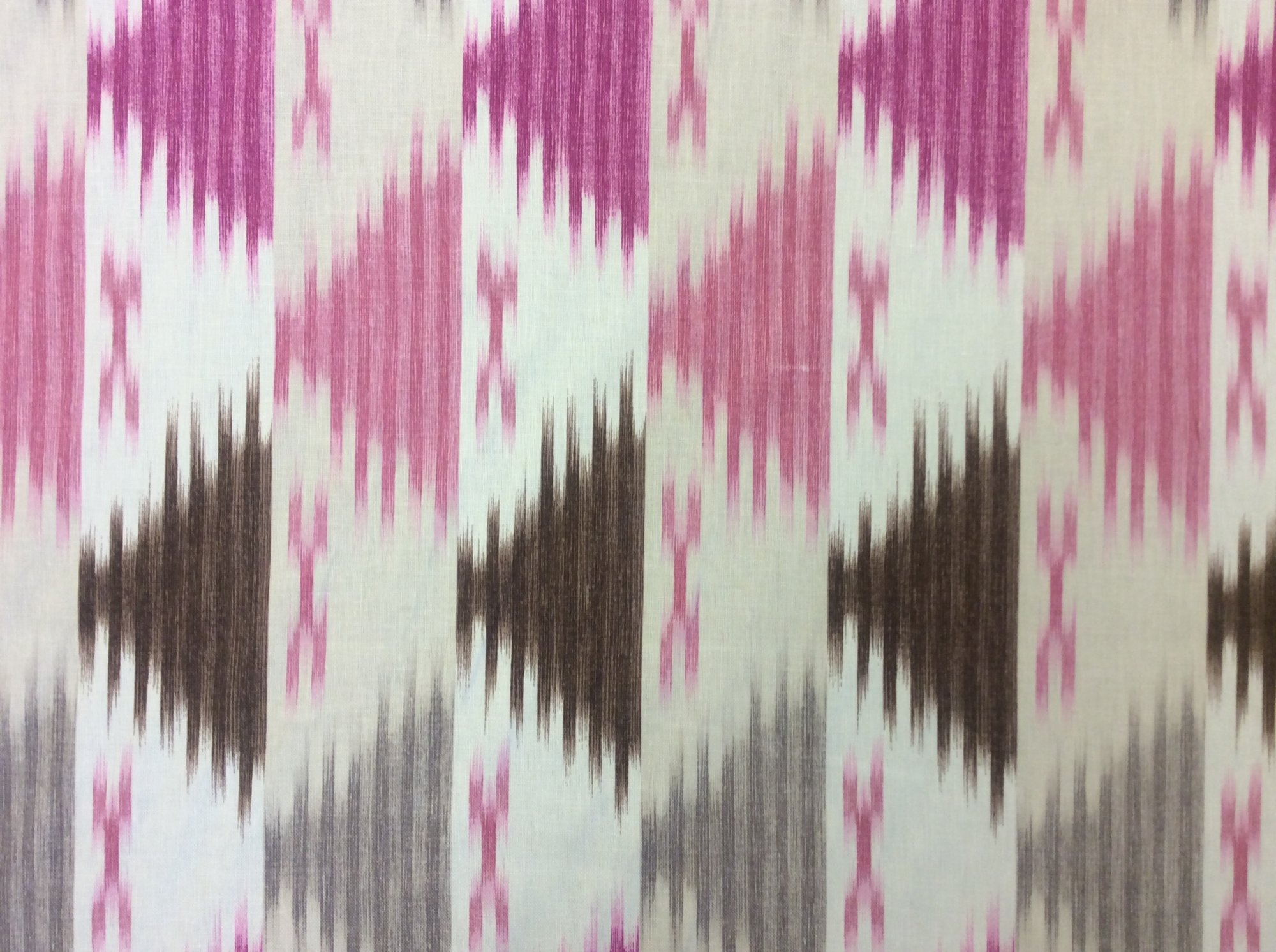 6 Yard Bolt! OR117 Printed Ikat Stripe Geometric By the Yard Upholstery Home Decor Fabric