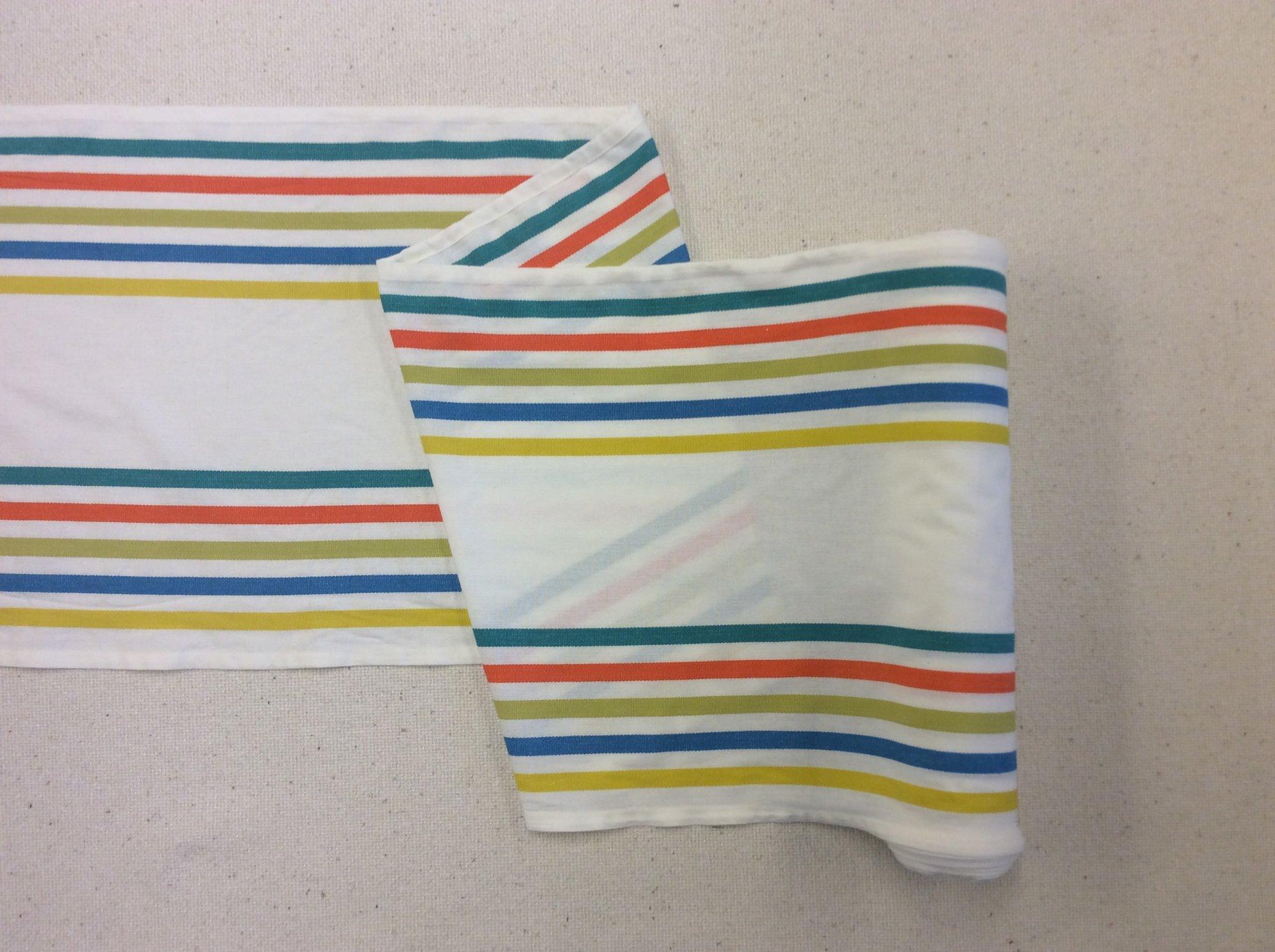 Toweling By the Yard Fiesta Border Stripe Salsa Cotton Toweling MOT119