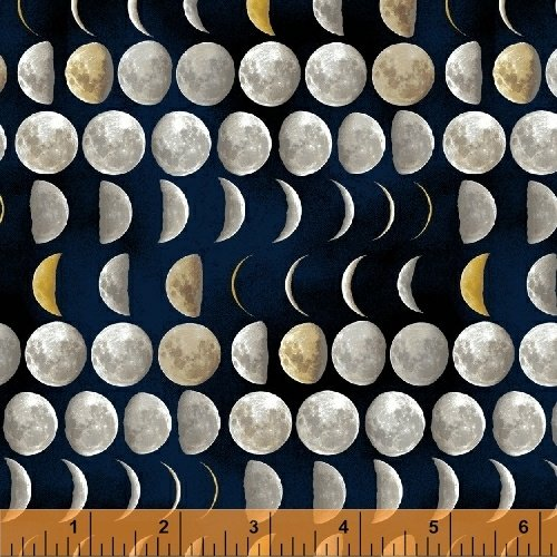 Galileo Moons Outer Space Cotton Quilt Fabric Wi100