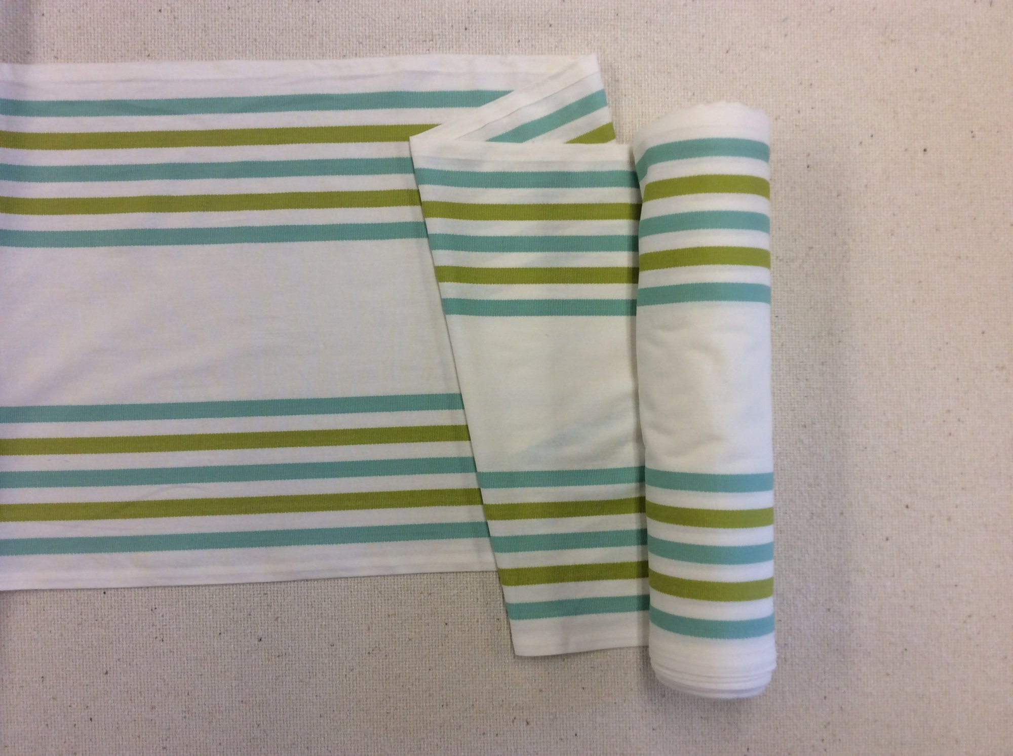 Striped Cotton Toweling Cool Tone Fabric MOT205