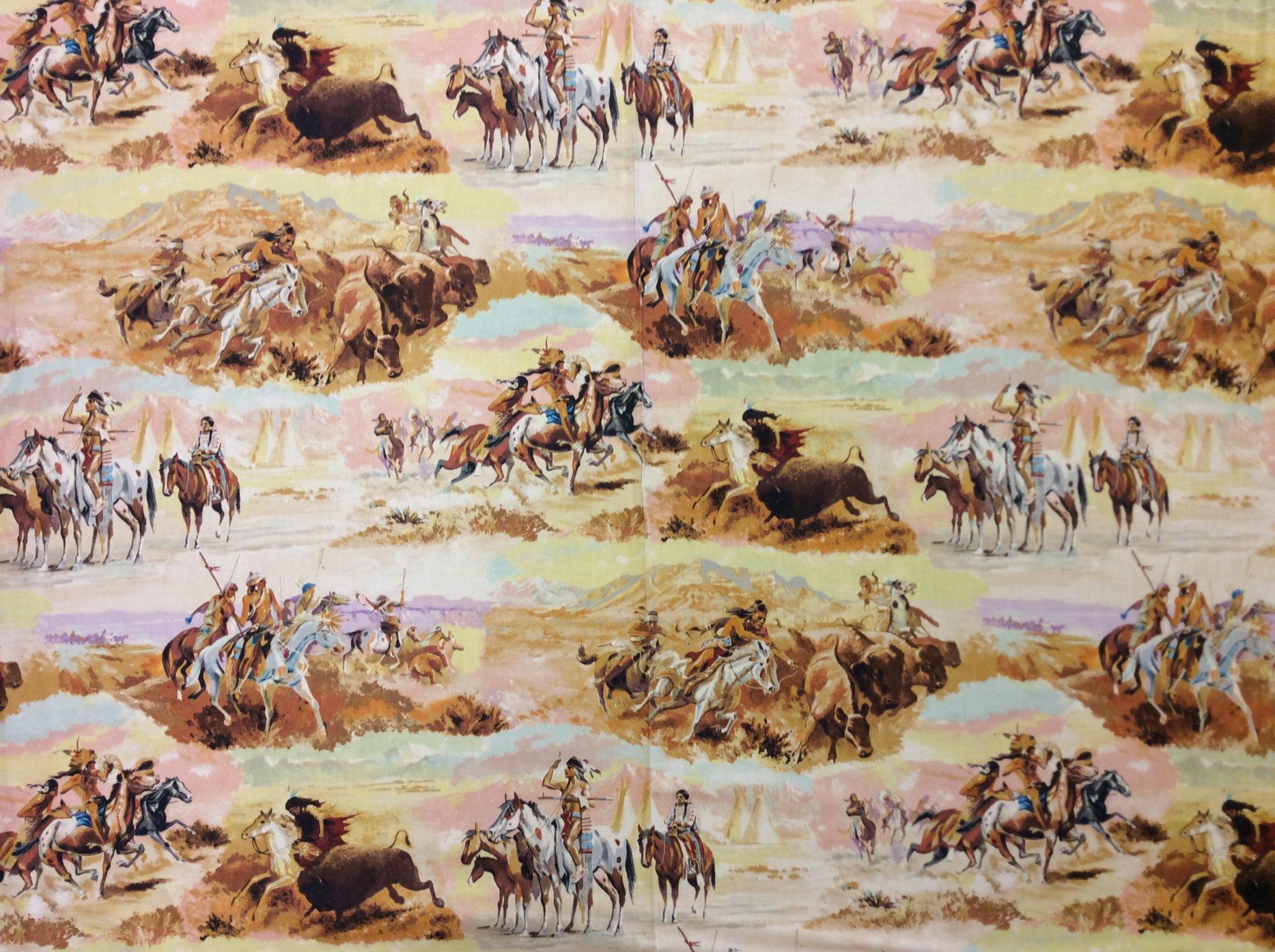 Alexander Henry Warriors Story Cotton Quilting Fabric CS412