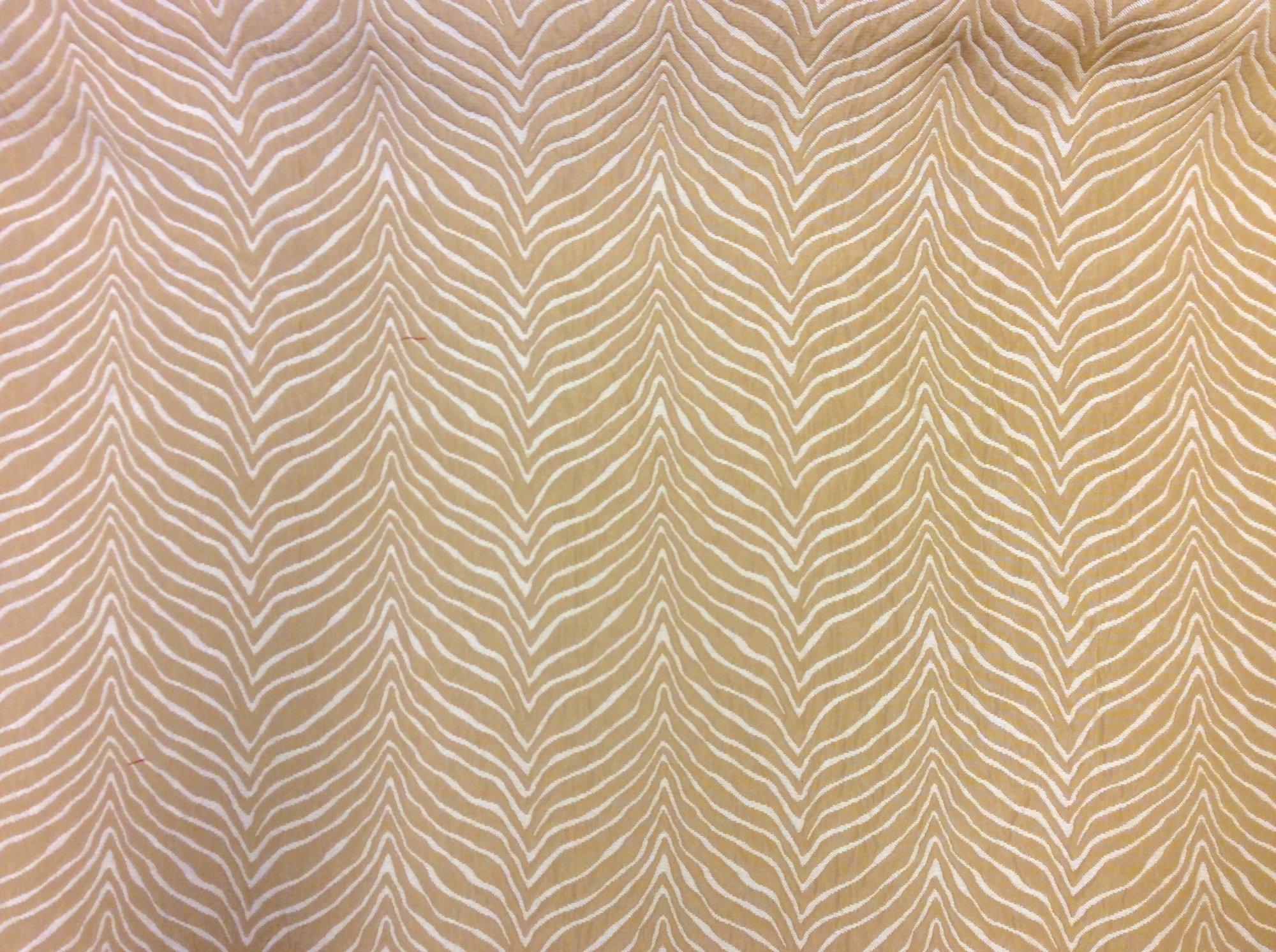 Heavy Upholstery Gold Zebra Woven Home Decor Fabric LOS001