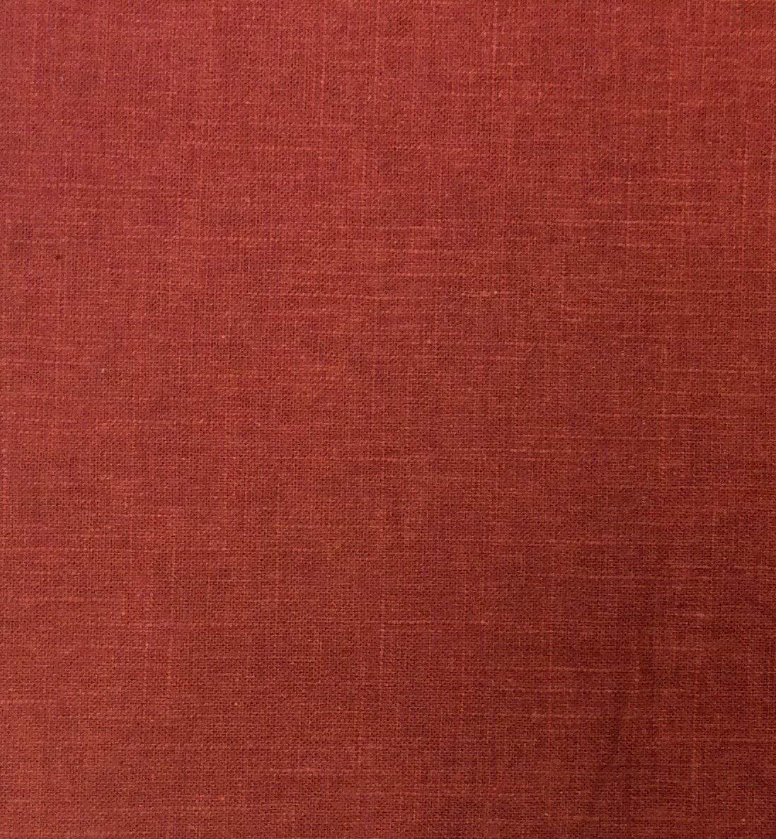Rust Orange Linen Viscose Drapery Home Decor Fabric NL40