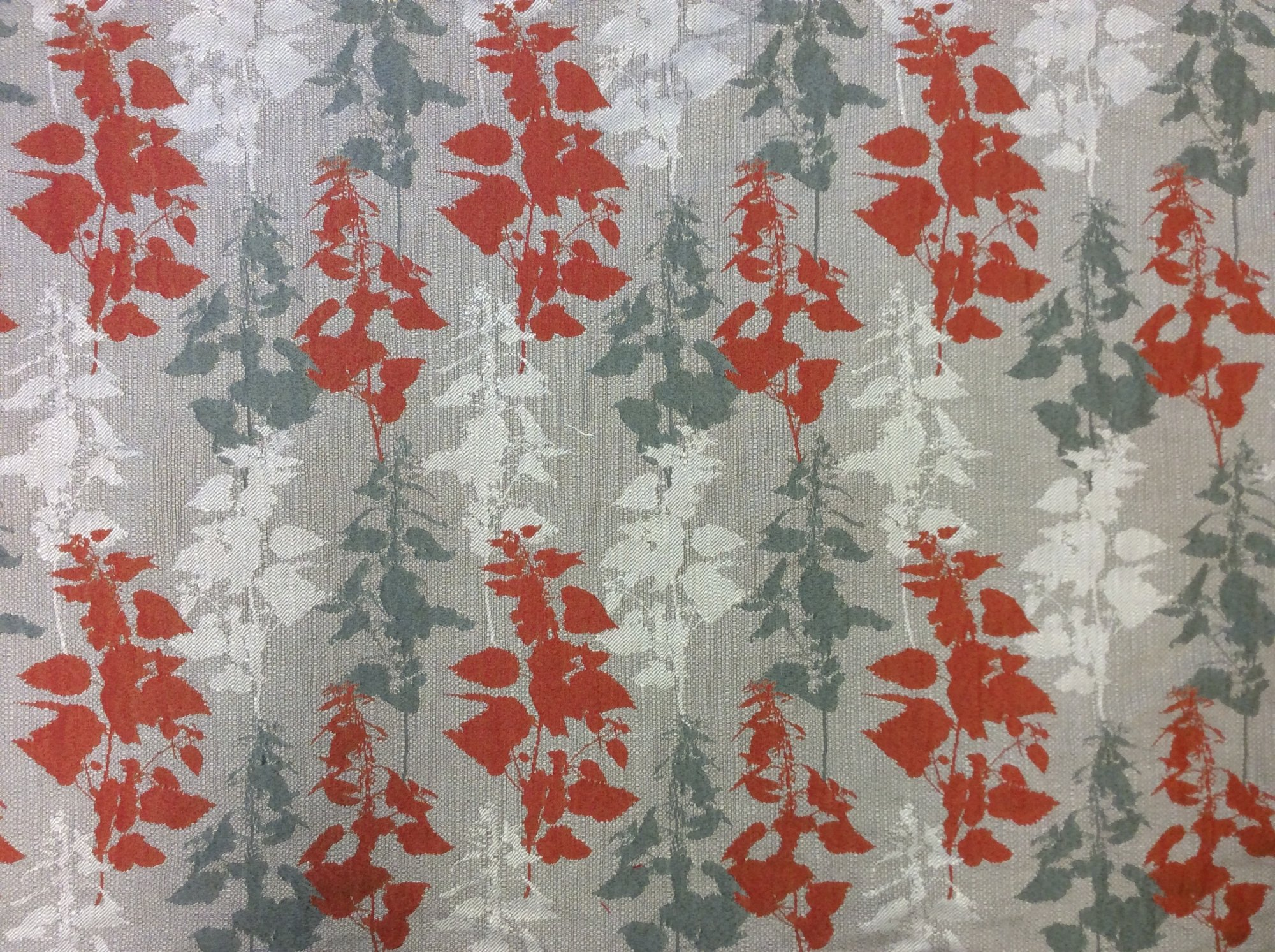 Woven Jacquard Modern Leaf Silhouette Fabric HD679