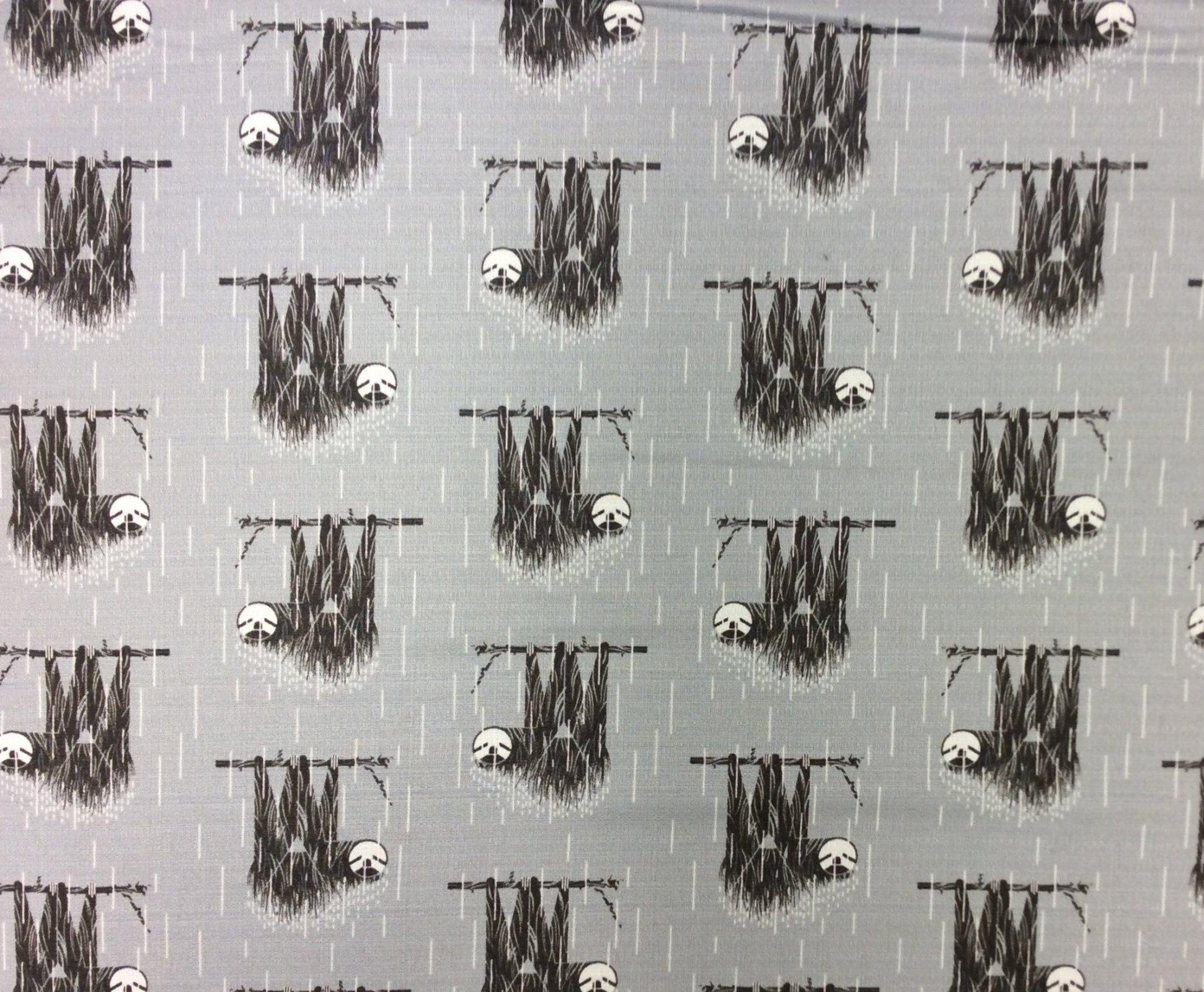 Charley Harper Barkcloth Sloth Wide Organic Cotton Mid Century Cotton Home Dec Fabric CHB112