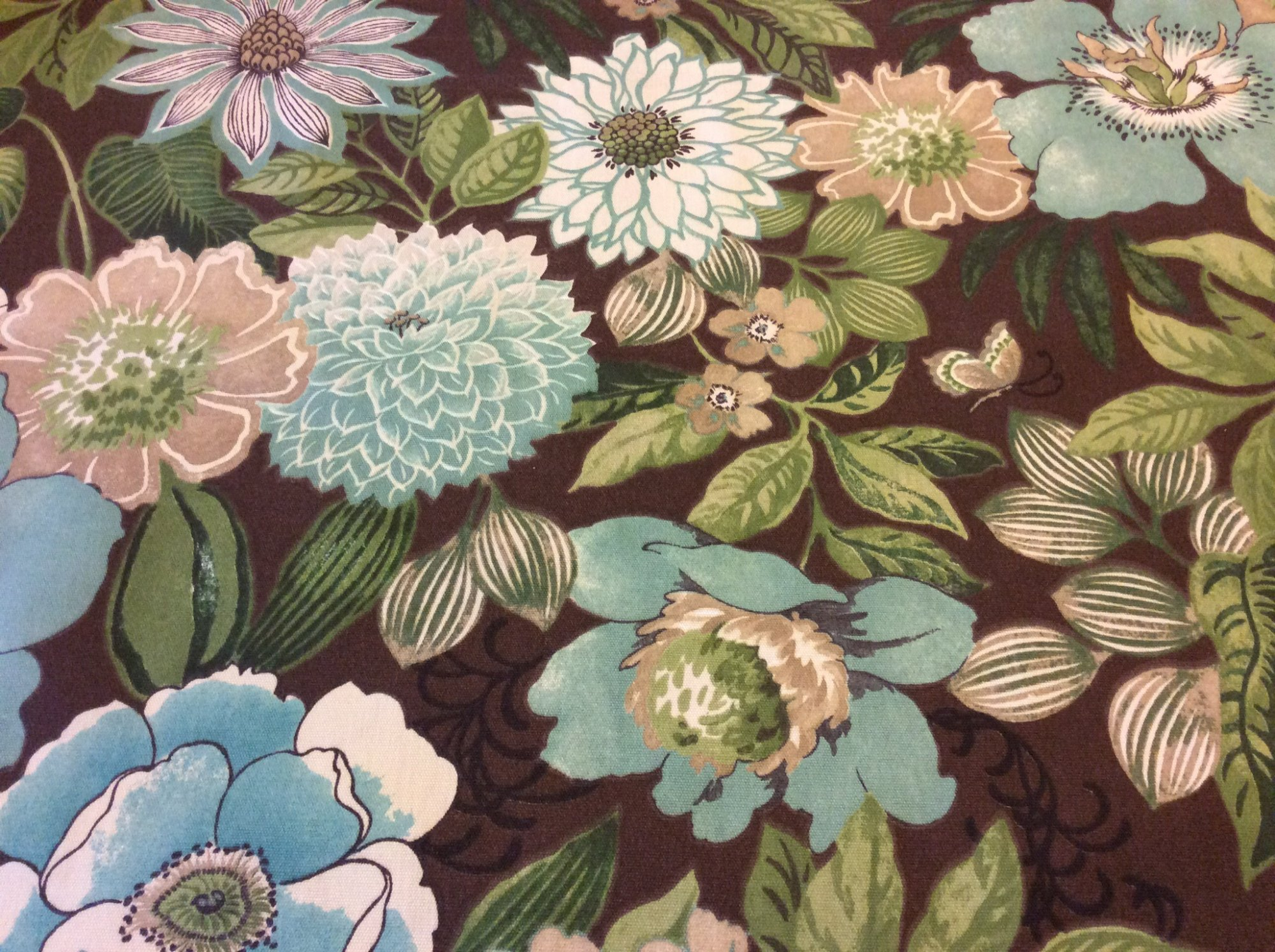 Mid Century Modern Large Scale Floral Printed Famous Maker Acrylic Oursoor Fabric SL005