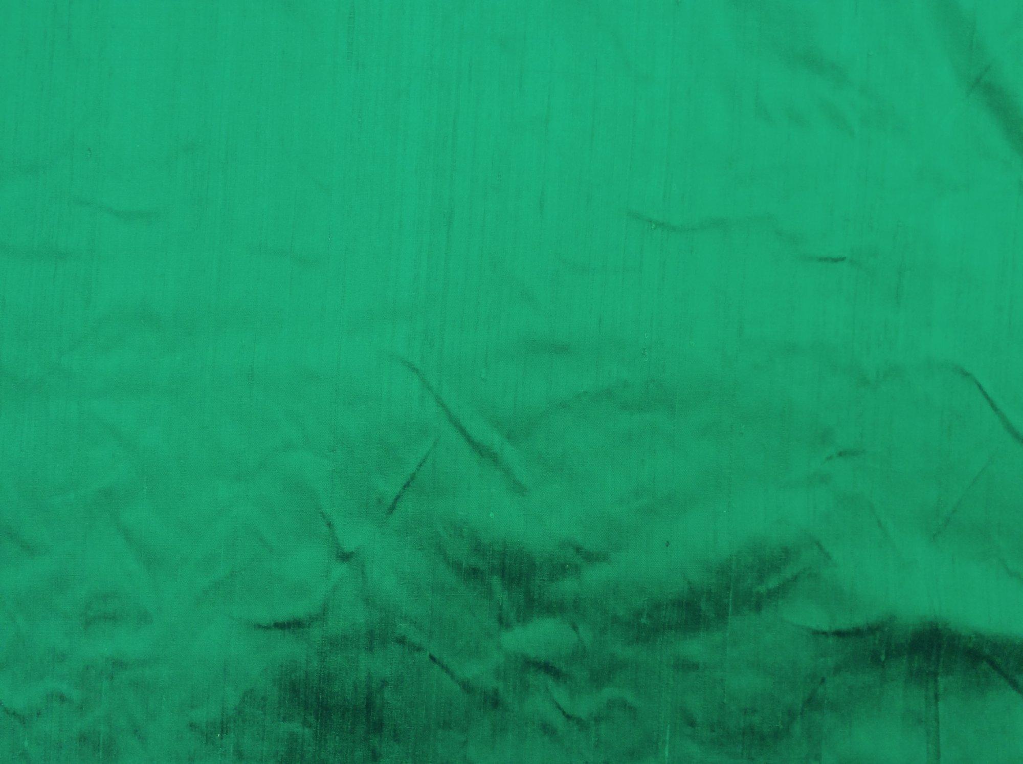 100% Dupioni Silk Emerald Green Color Drapery Silk Costume Apparel Hand Woven Sewing Fabric SHW03