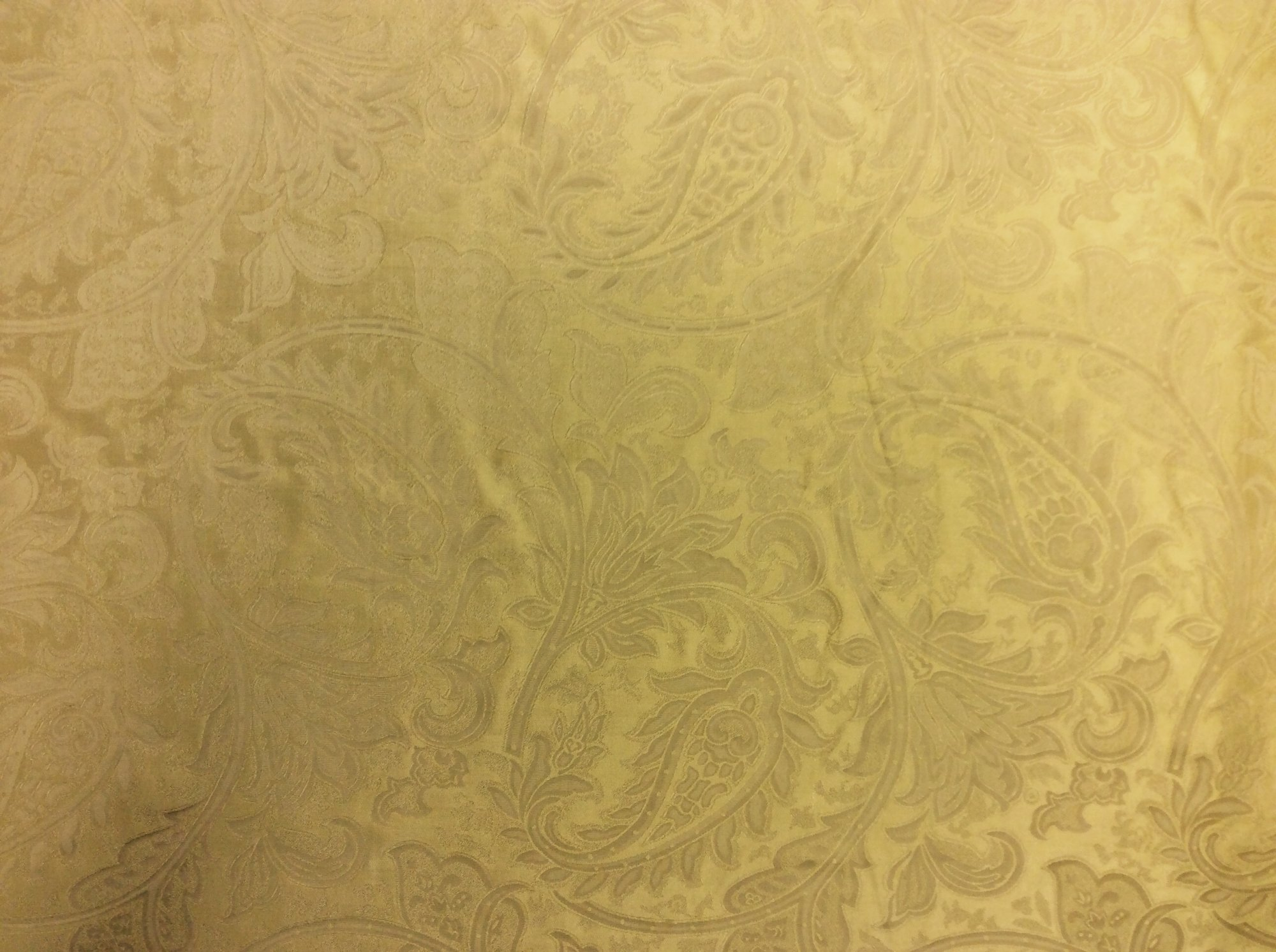 Antique Gold Silk Leaf Damask Nature Floral Paisley Drapery Home Dec Fabric NL28