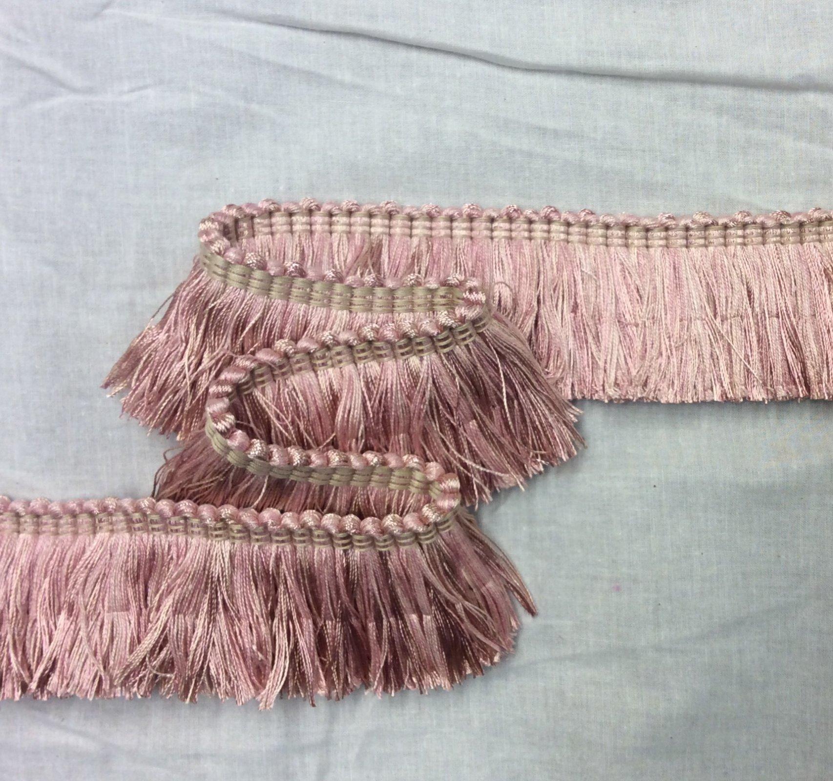 Flamingo Pink Blush 2 Brushed Fringe Home Decor Upholstery Trim EPTX88