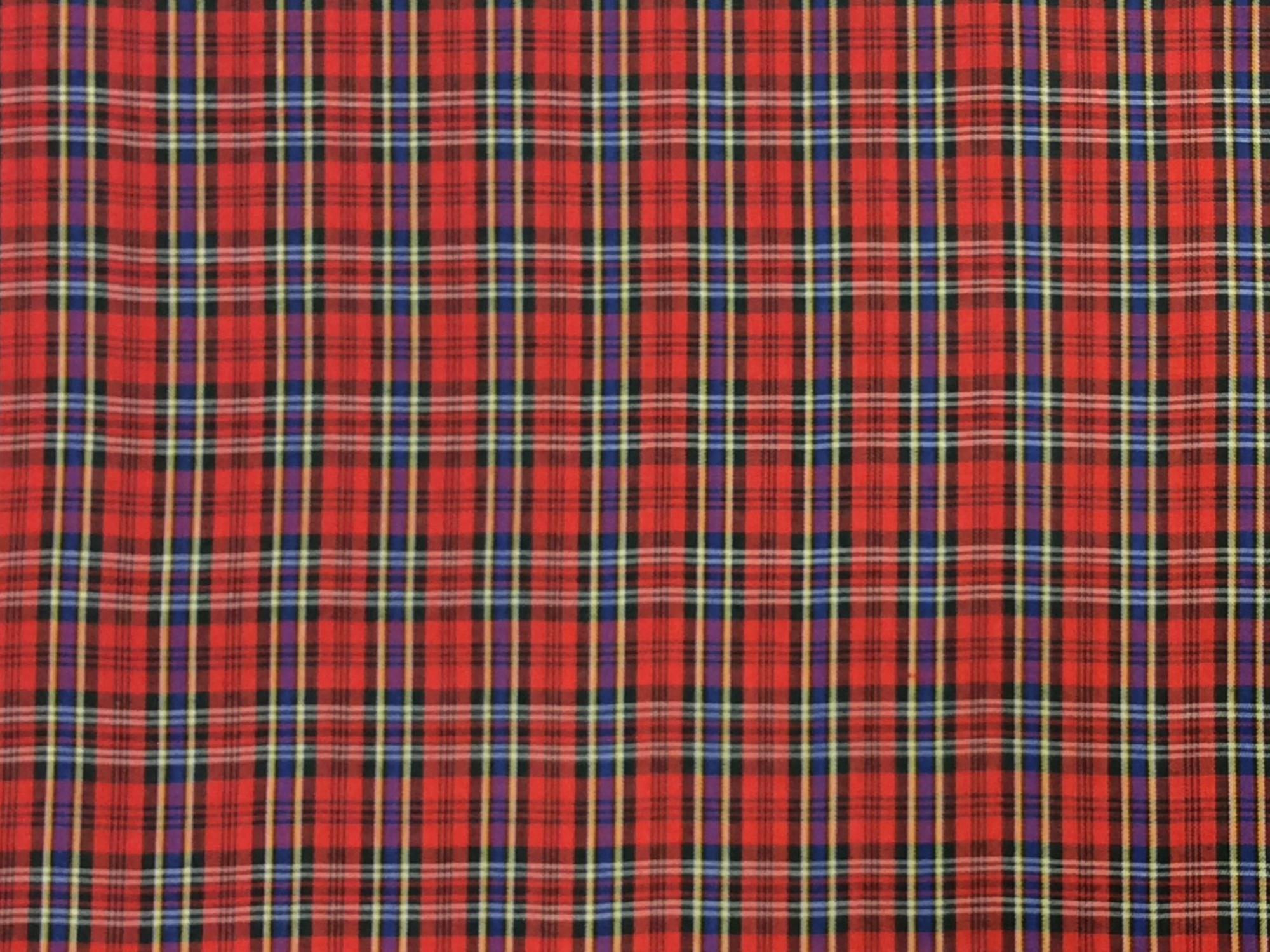 Tartan Plaid Albert Clan Apparel Fabric Yarn Dyed Fabric FTP23