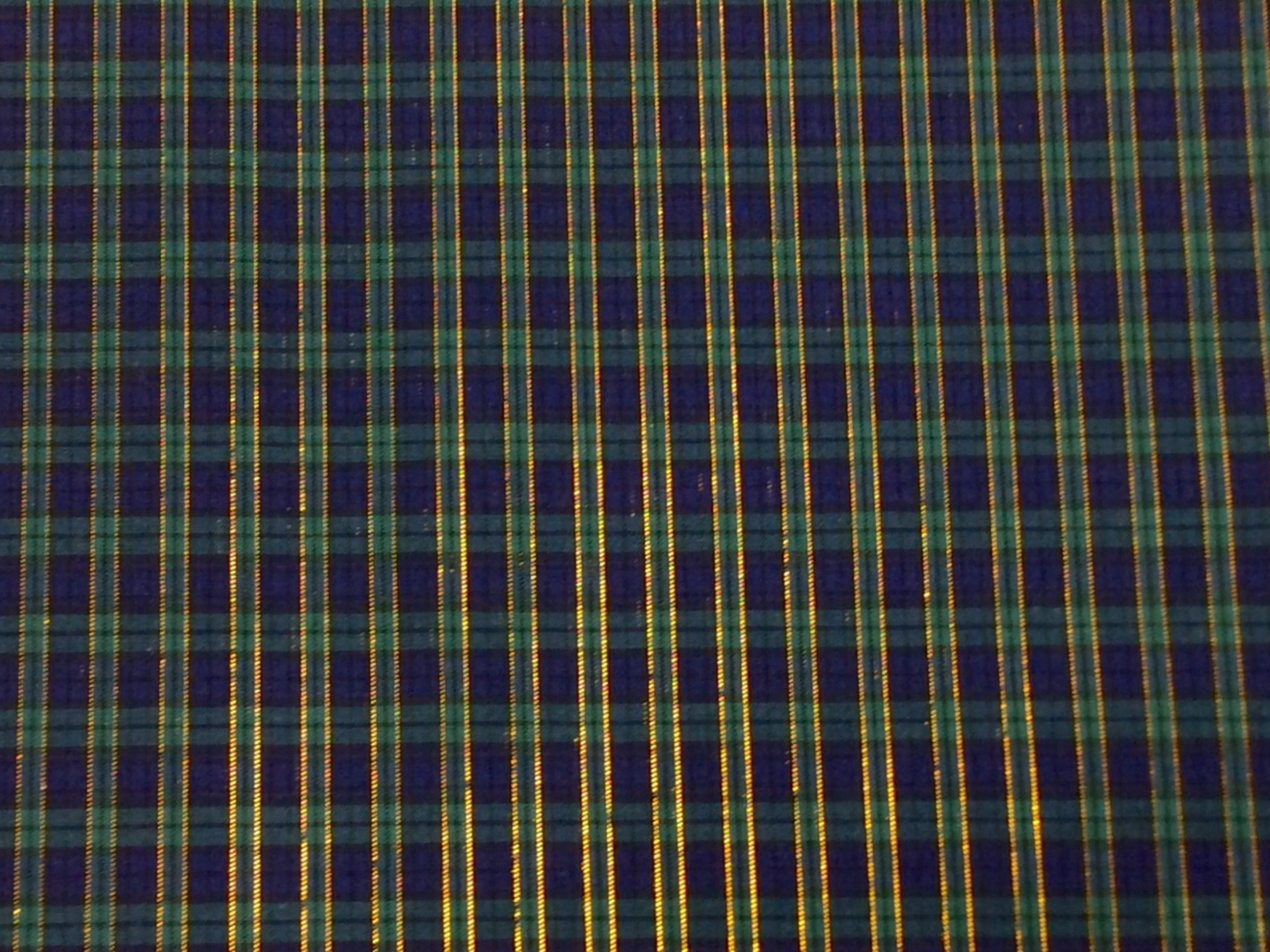 Tartan Plaid Gold Metallic Stripe Apparel Fabric Yarn Dyed Fabric FTP109