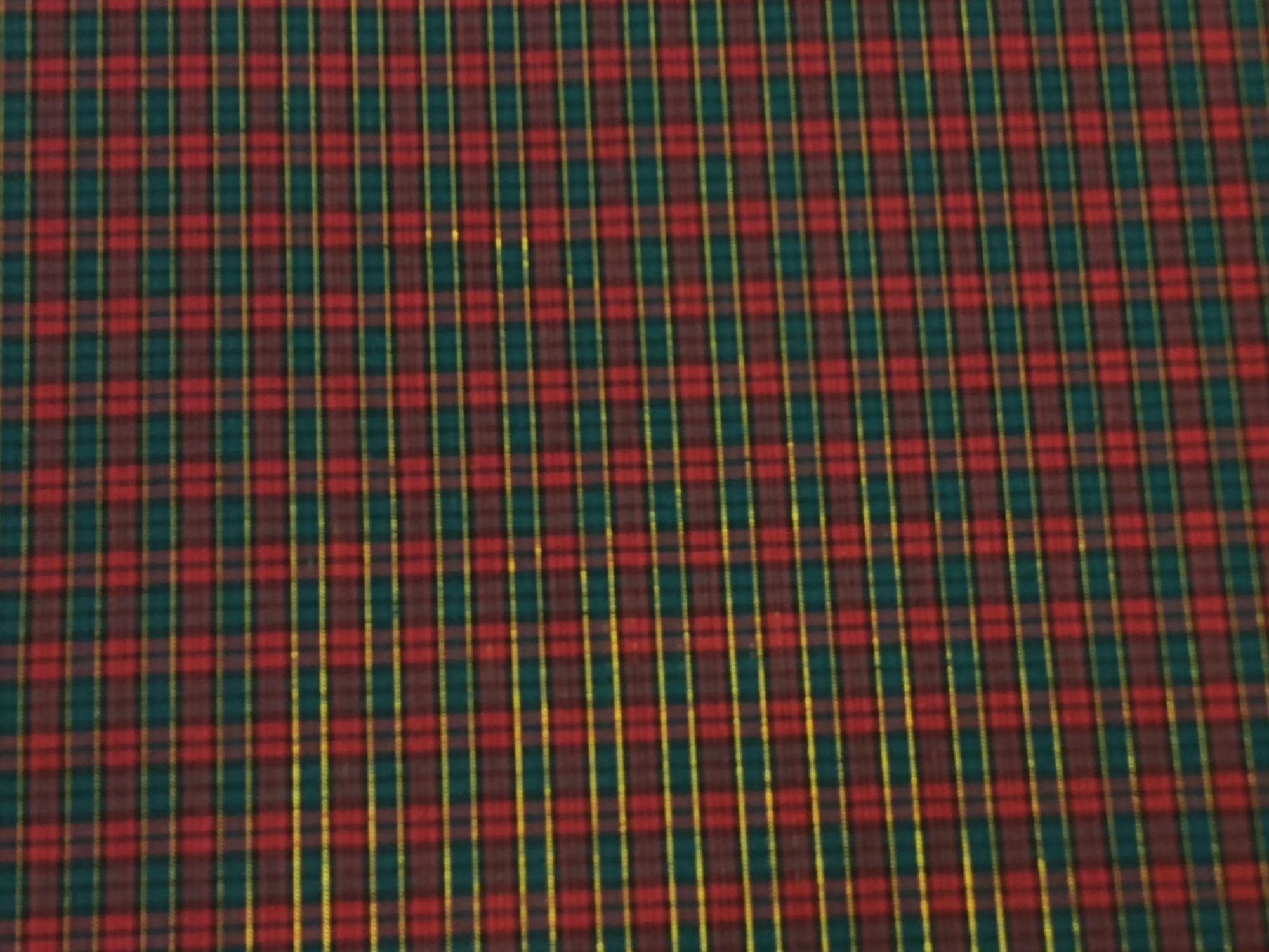 Tartan Plaid Gold Metallic Stripe Apparel Fabric Yarn Dyed Fabric FTP121