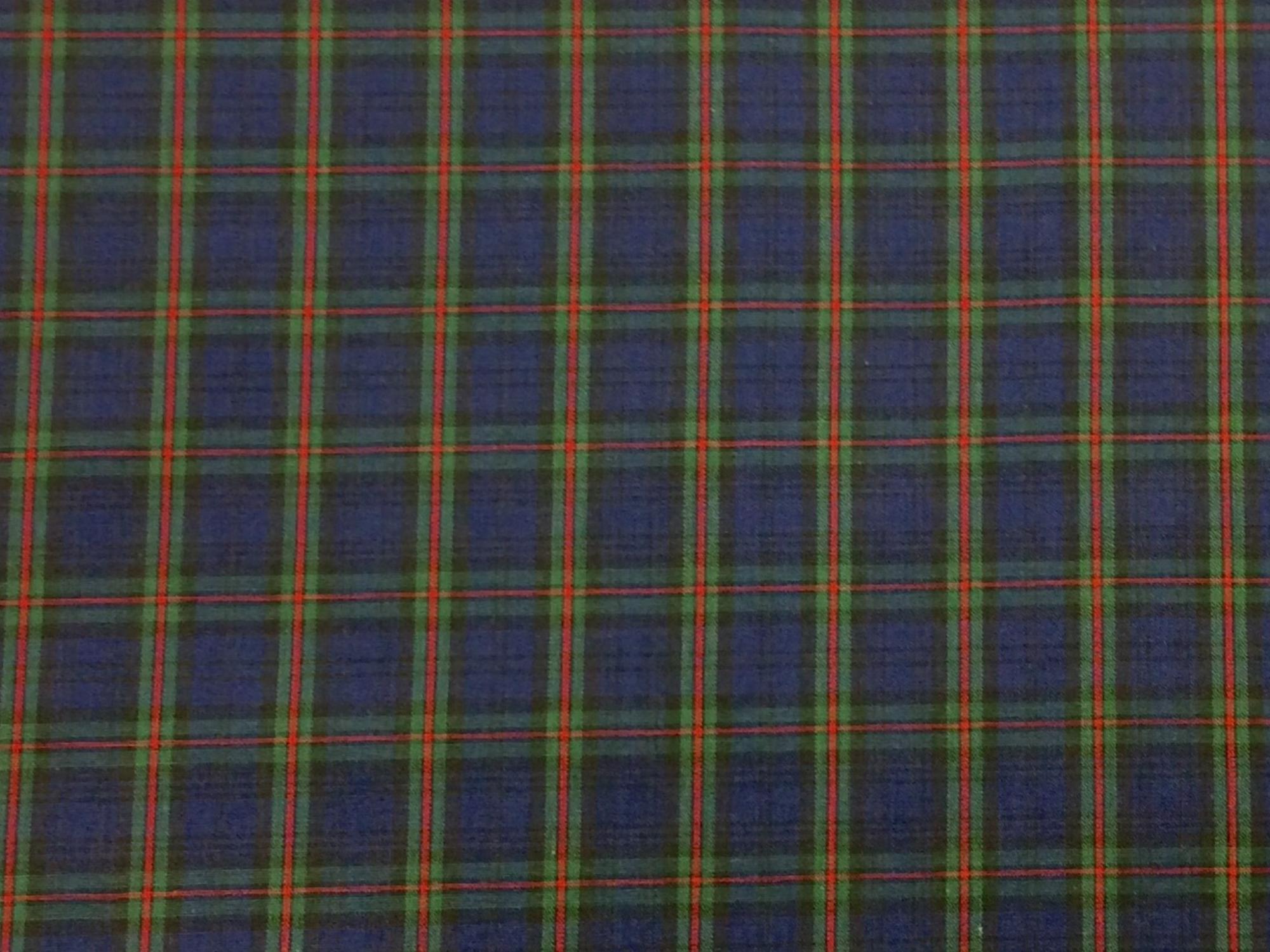 Tartan Plaid Campbell Clan Apparel Fabric Yarn Dyed Fabric FTP13