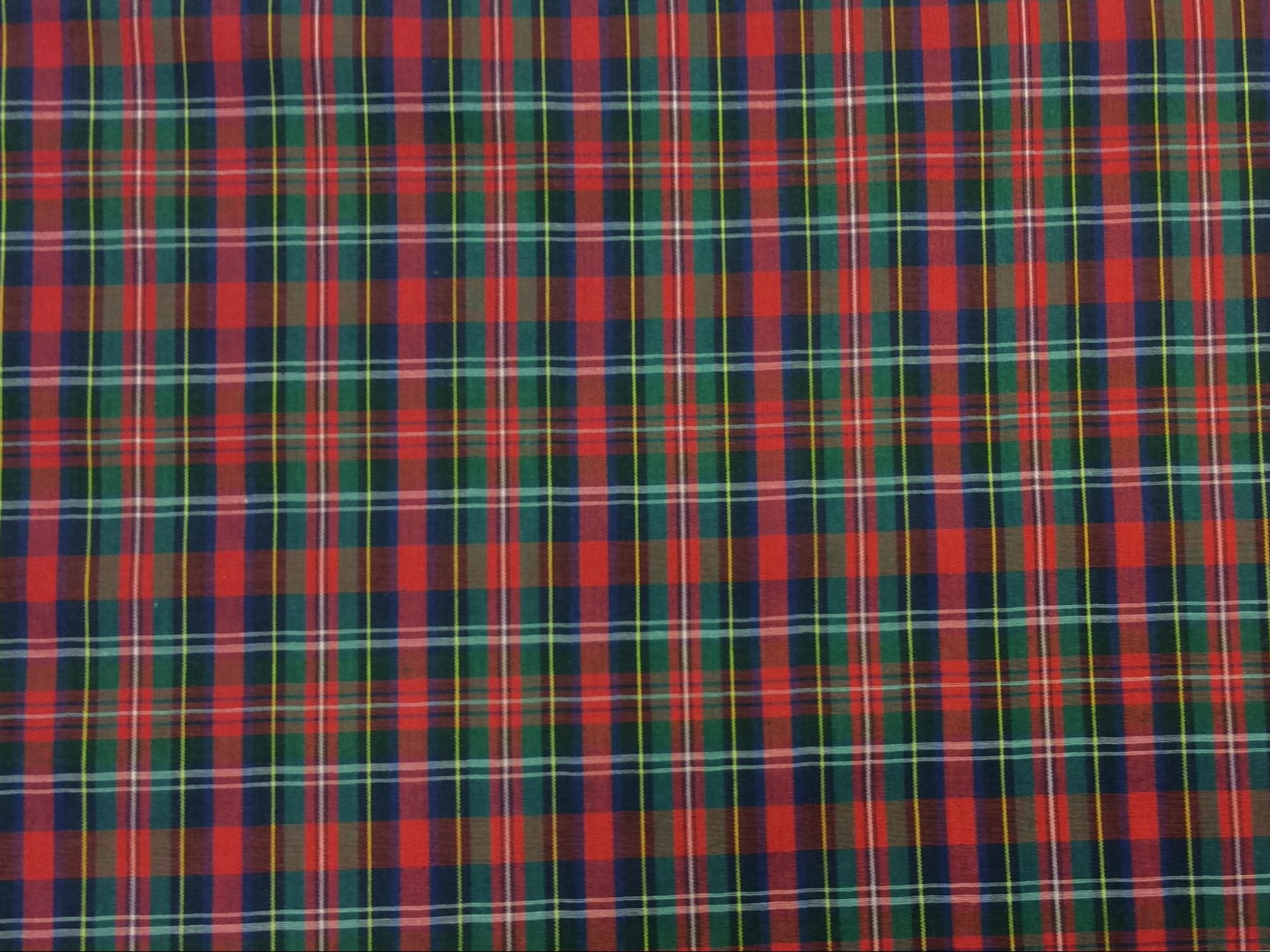 Tartan Plaid Mac Nab MacNab Clan Apparel Fabric Yarn Dyed Fabric FTP14