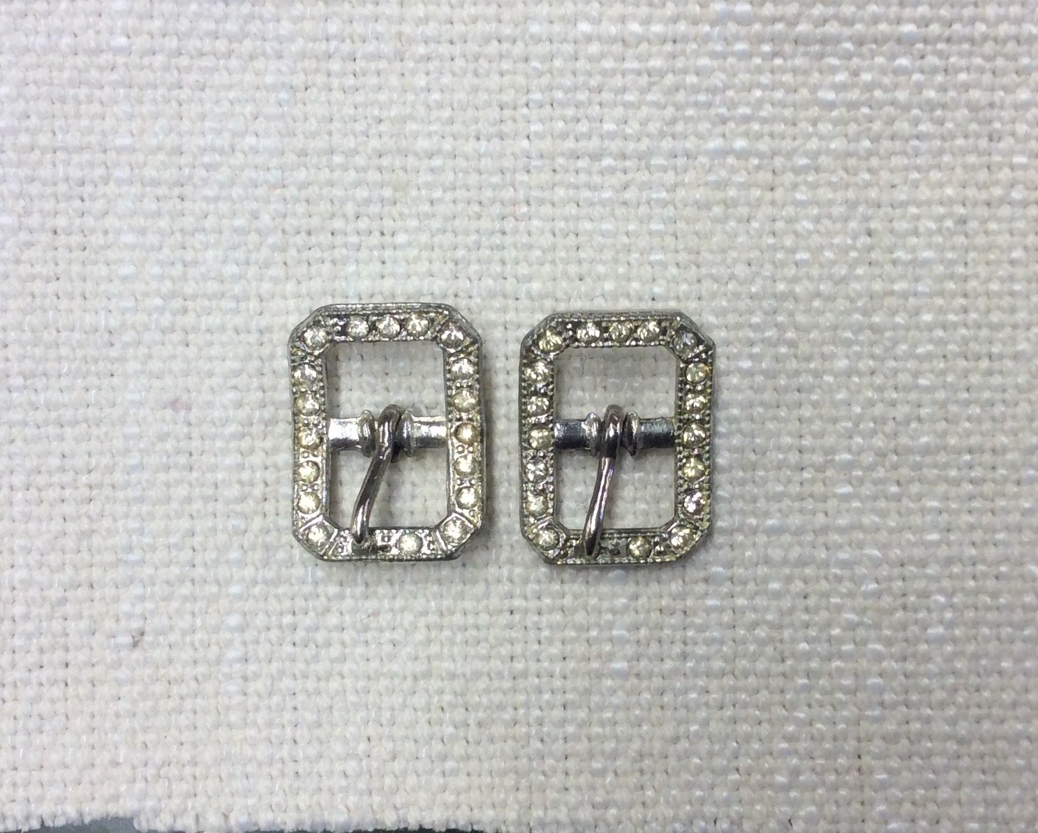 Antique French Rhinestone Paste Buckles Sold as the PairJGBT3