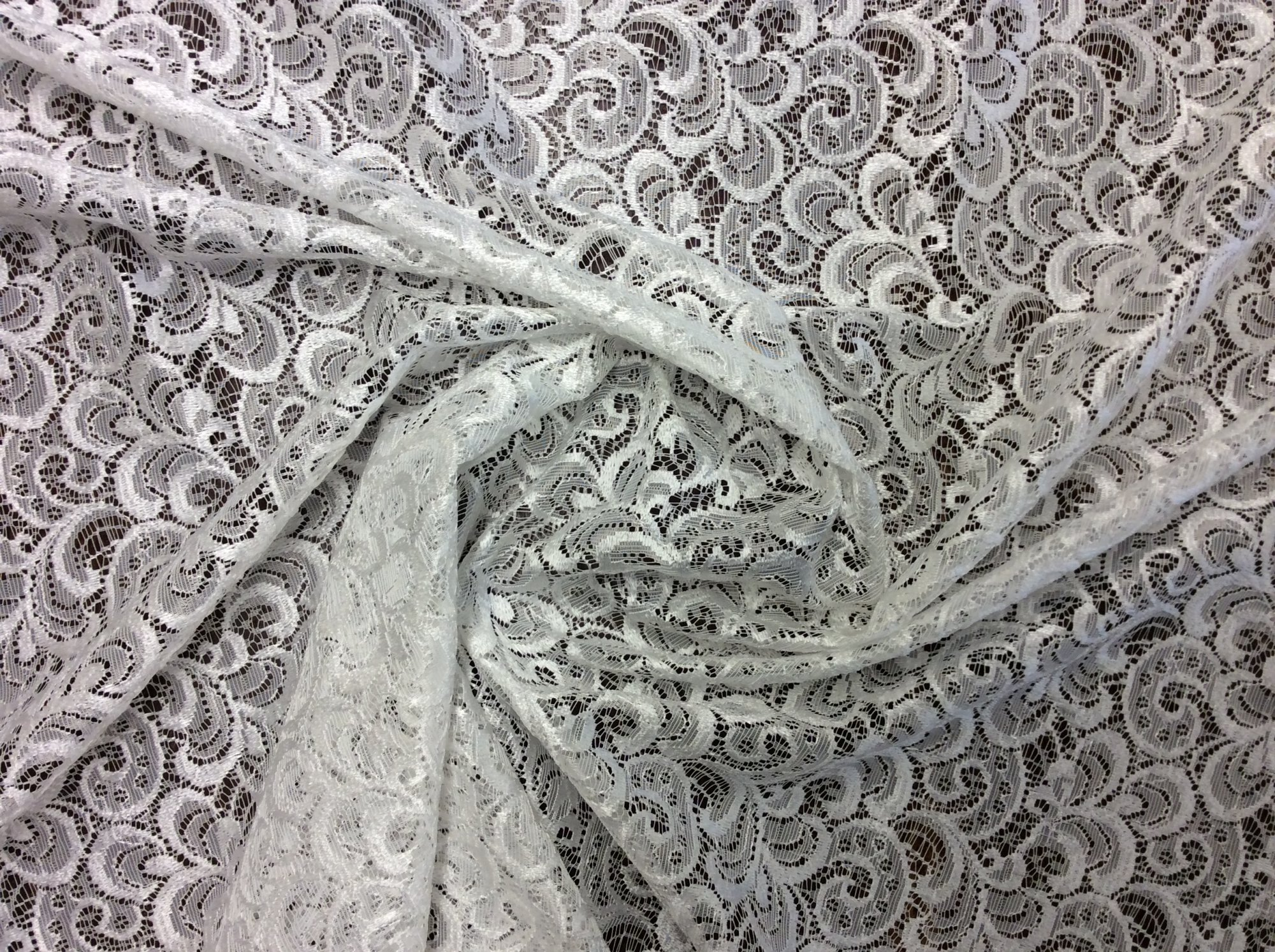 Lace Sheer Scallop Lace Ivory Curtain Apparel Fabric Drapery Fabric LDSO508