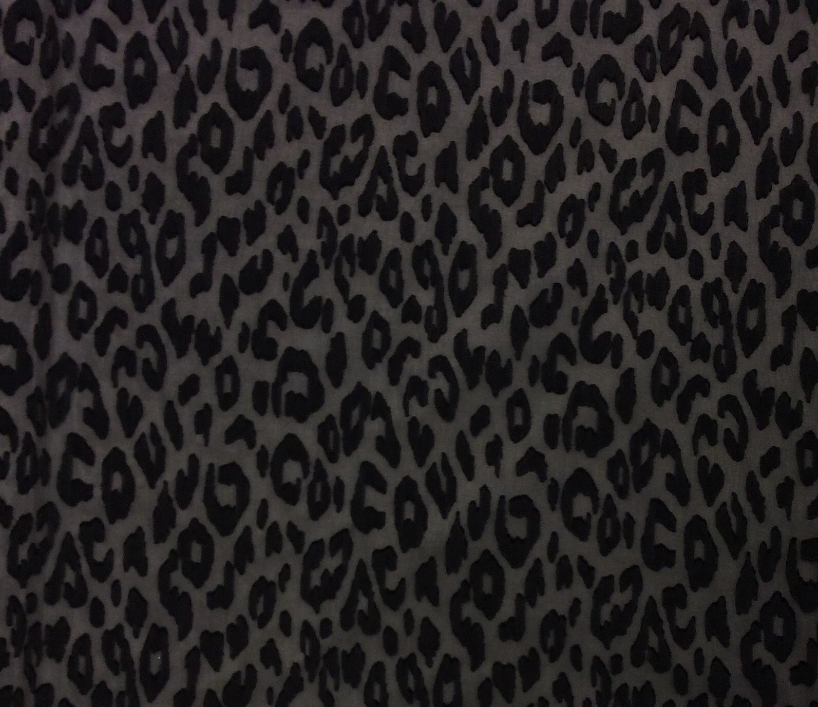 Black Burnout Leopard Print Polyester Chiffon Animal Print Dress Apparel Fabric FM1441