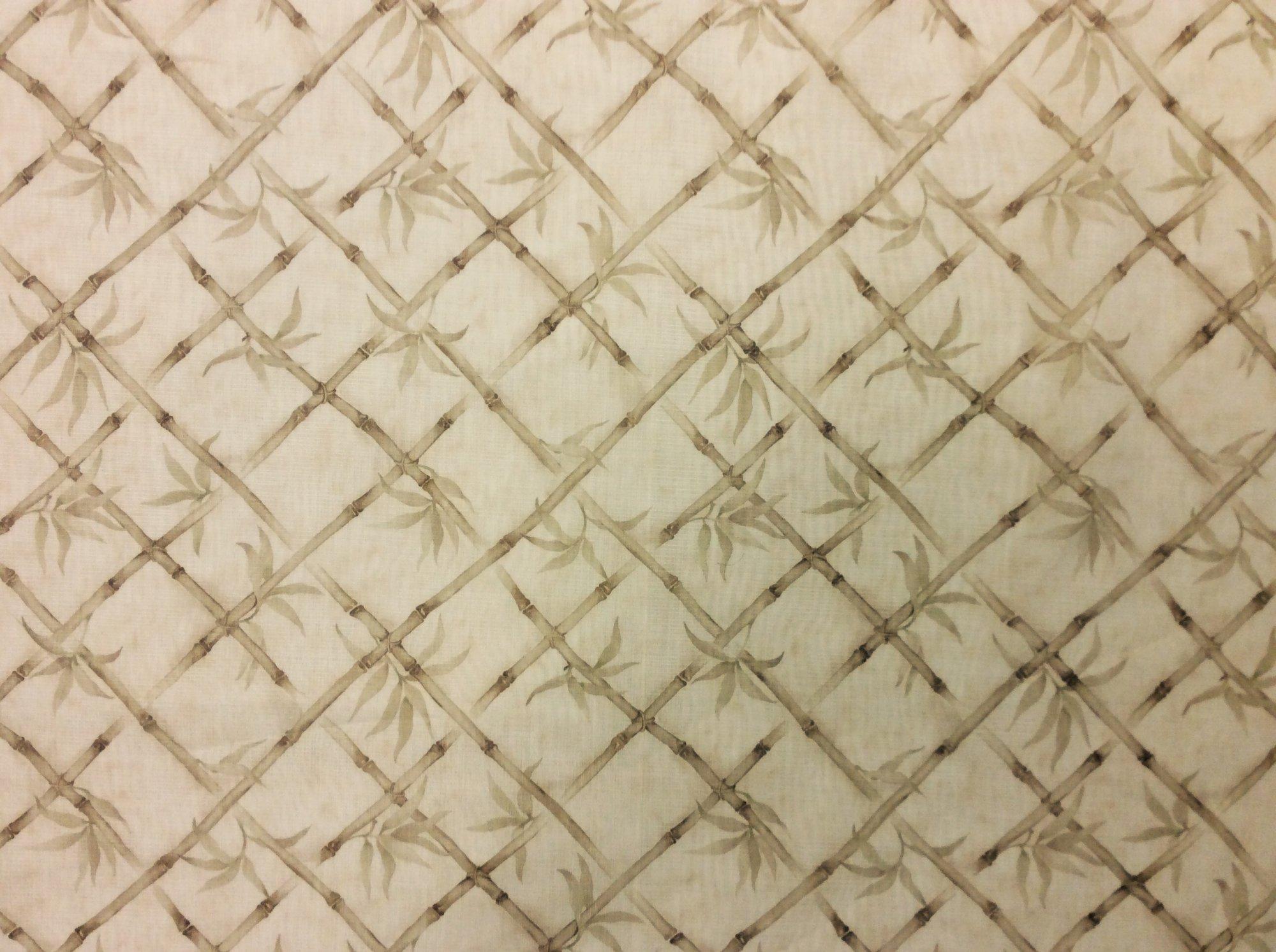 Bamboo Print Window Sheer Polyester Organza Apparel Drapery Fabric B34
