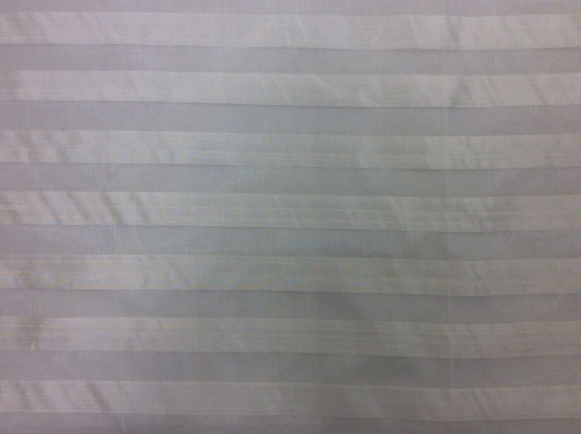 Horizontal Striped Silk Organza Off White Ivory Stripe Apparel Fabric FM420