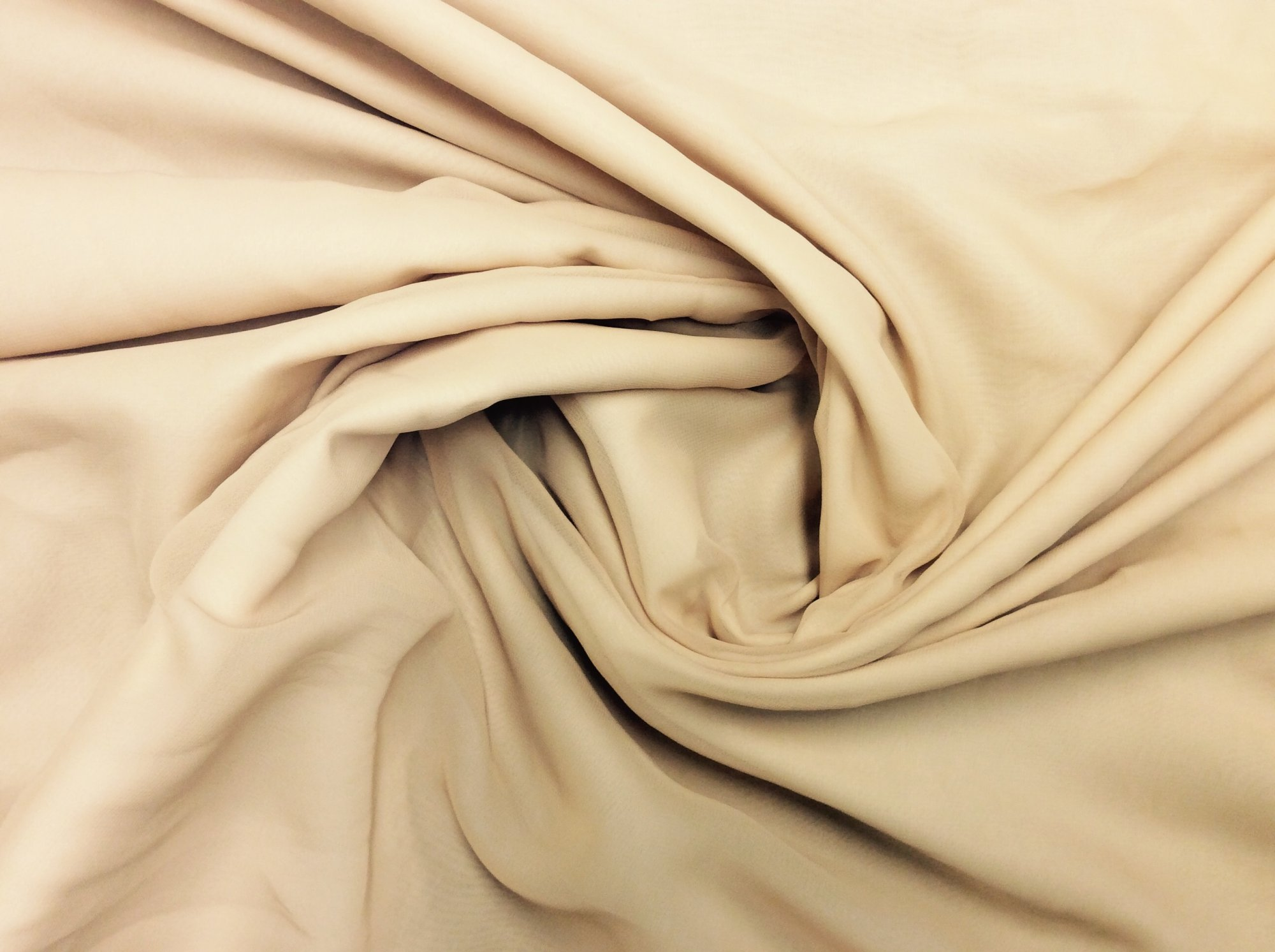 Tan Polyester Chiffon Apparel Sheer Dress Fabric FM99