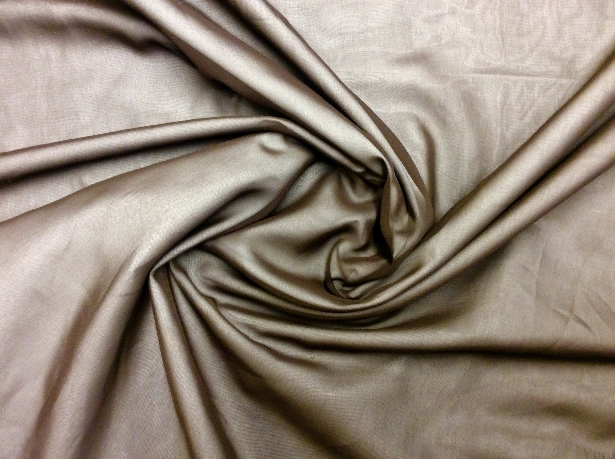 Chocolate Brown Polyester Chiffon Apparel Sheer Dress Fabric FM93