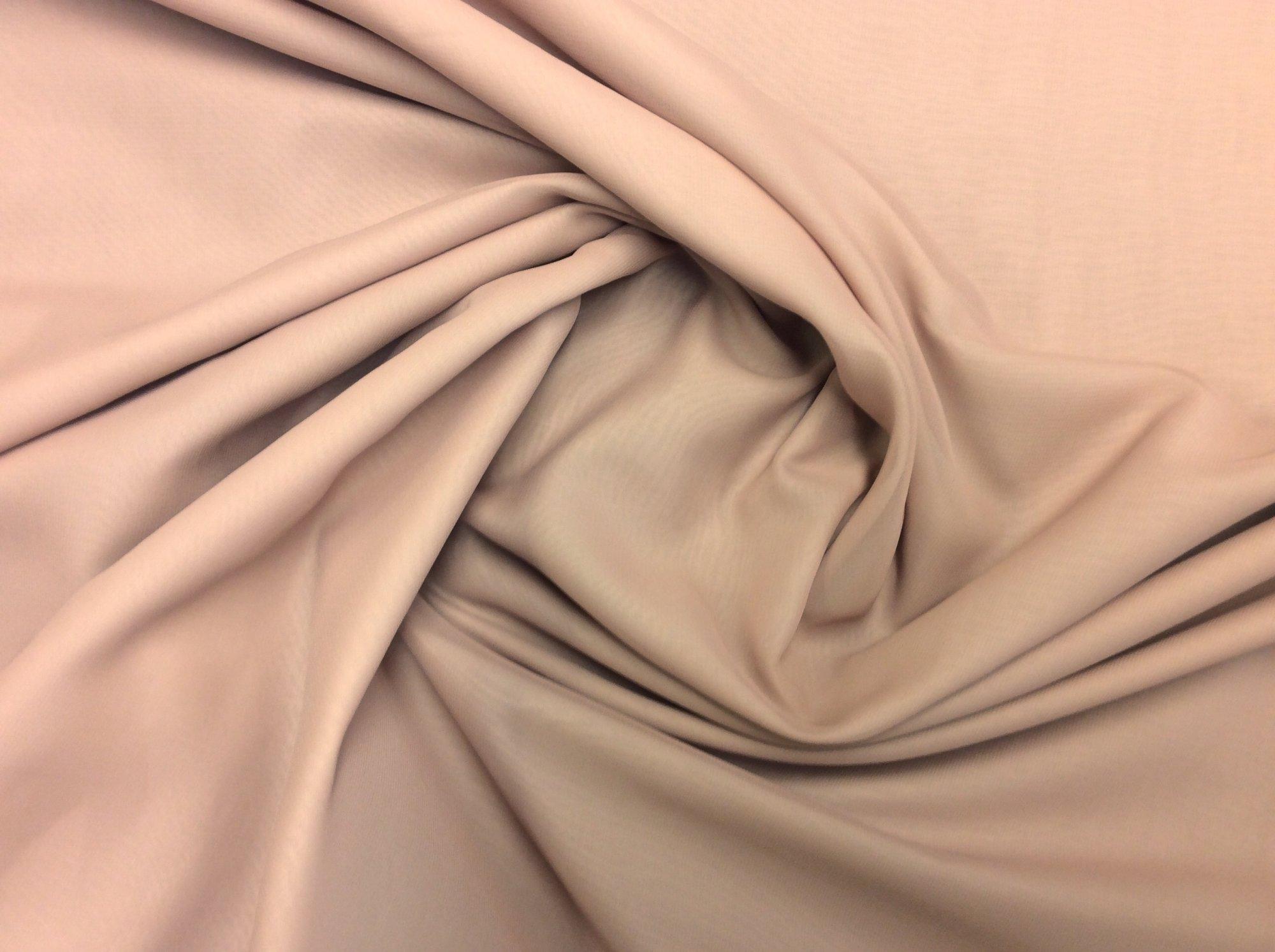 Blush Pink Polyester Chiffon Apparel Sheer Dress Fabric FM1585