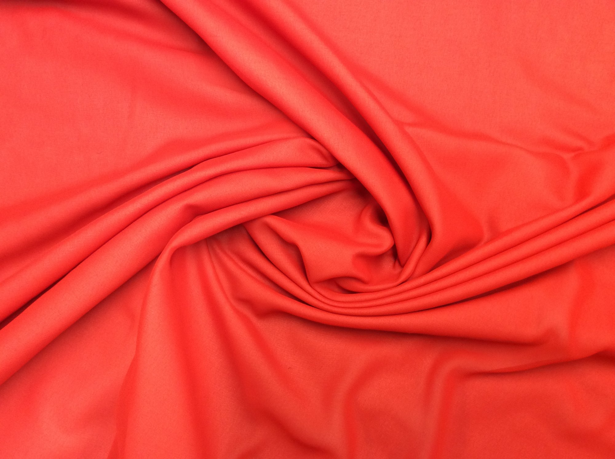Red Polyester Chiffon Apparel Sheer Dress Fabric FM95
