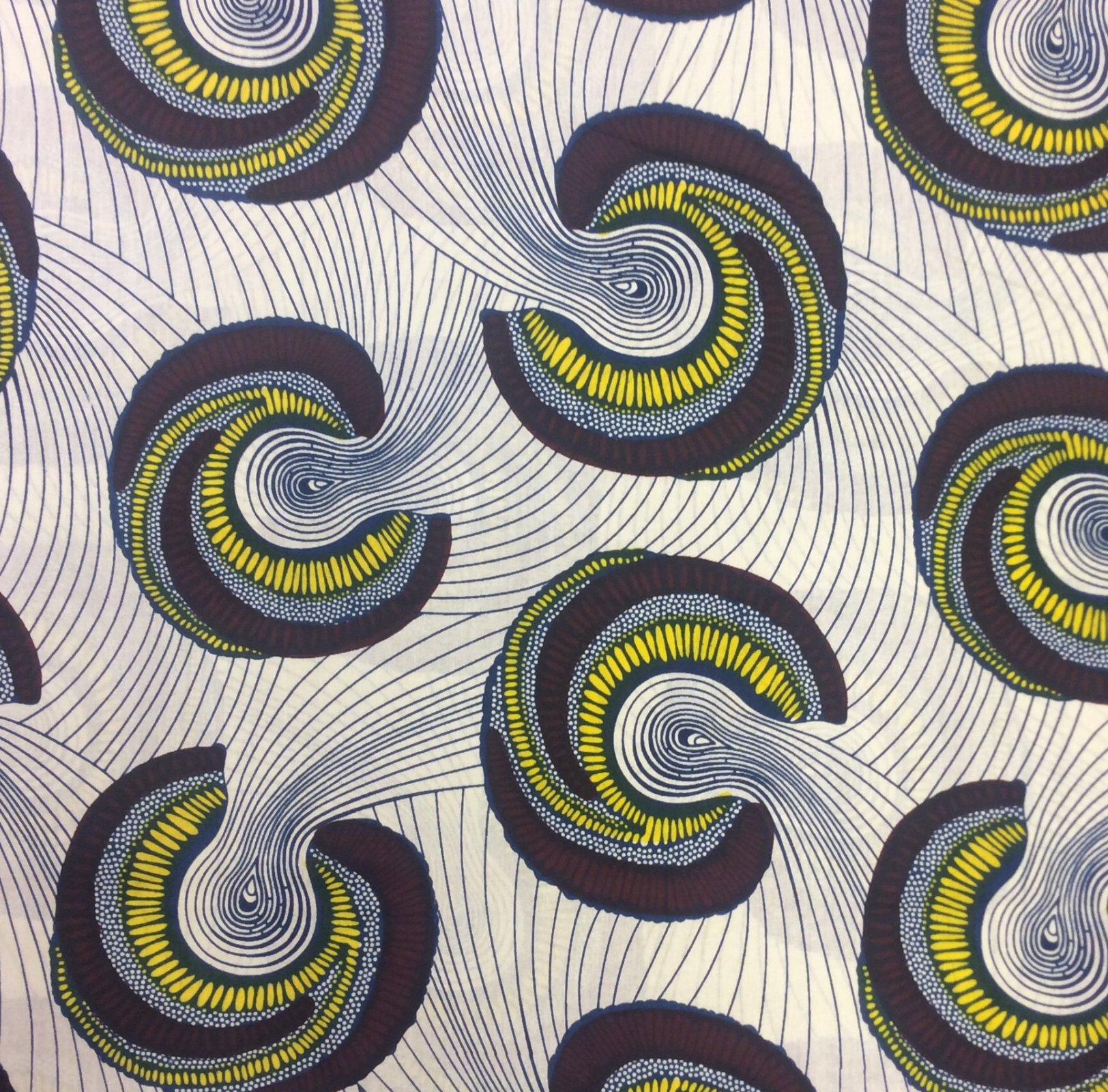 African Wax Print Cloth Cotton Fabric WP011
