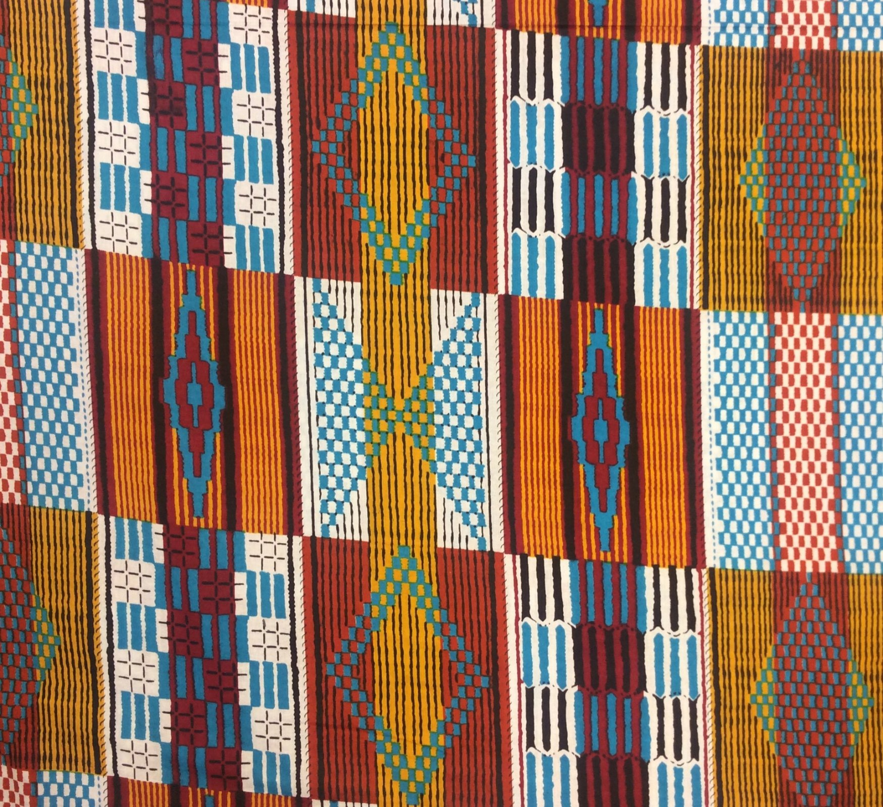 African Wax Print Cloth Cotton Fabric WP010