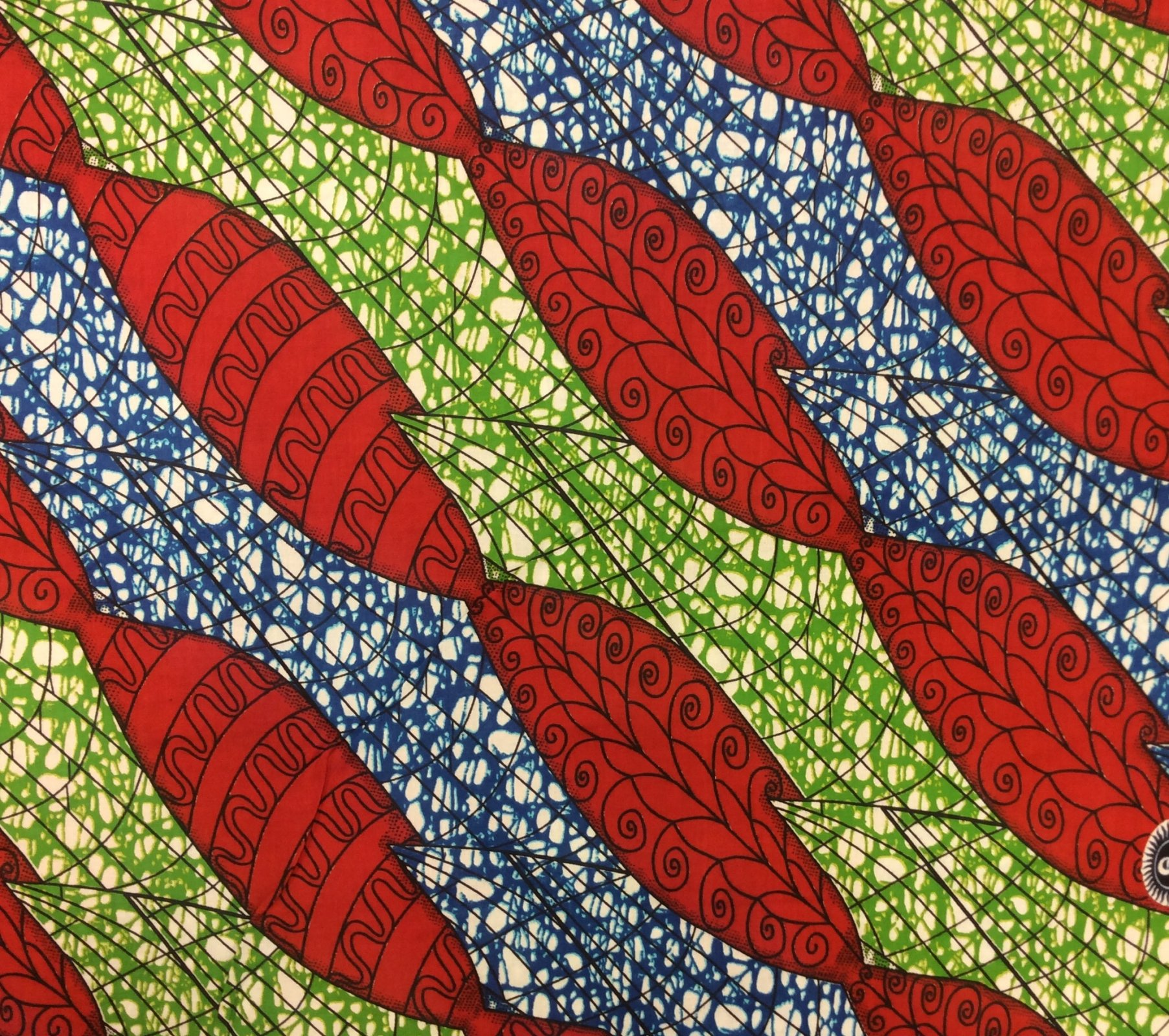 African Wax Print Cloth Cotton Fabric WP004
