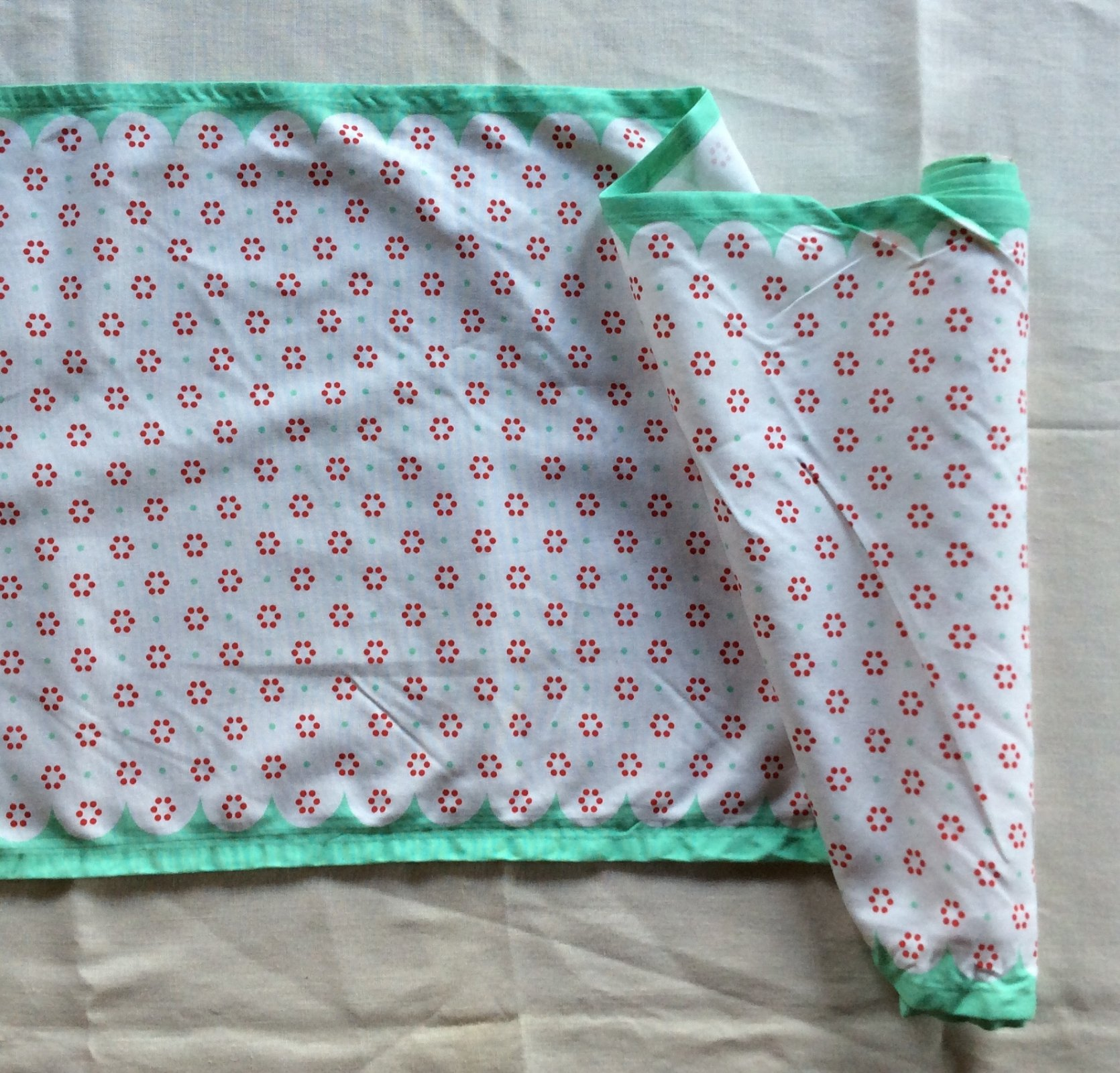 Toweling by the Yard Retro Fifties Style Polka Dot  Cotton Toweling MOT09
