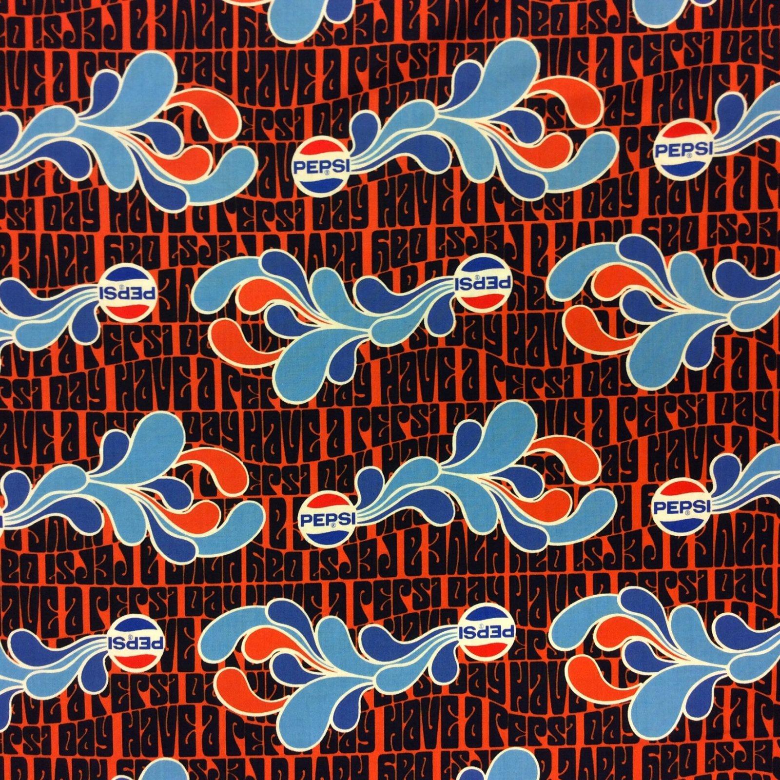 Pepsi Cola Soda Pop Retro Logo Cotton Quilt Fabric MD285