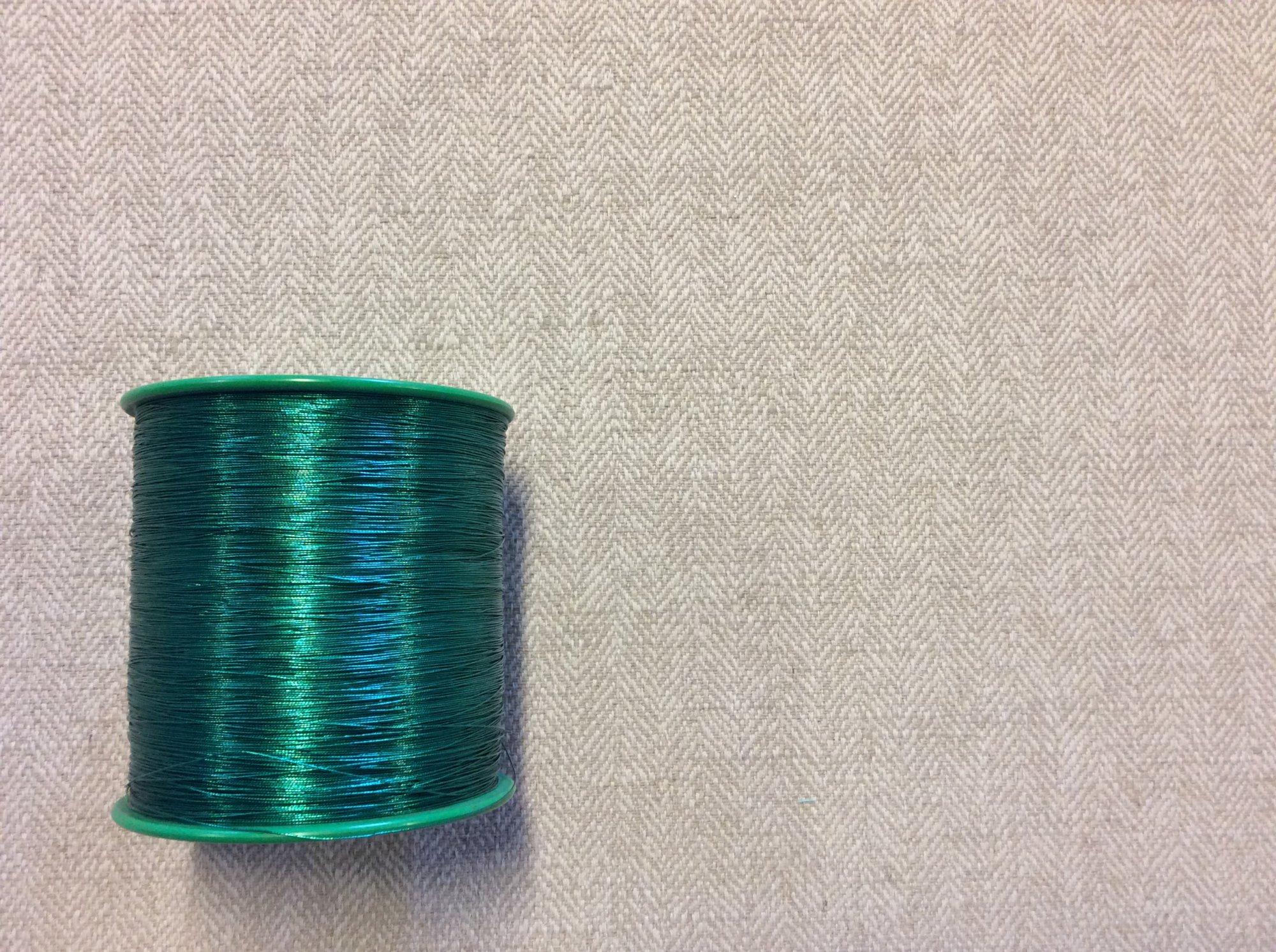 Metallic Green Fiber Thread Spool TRIM957