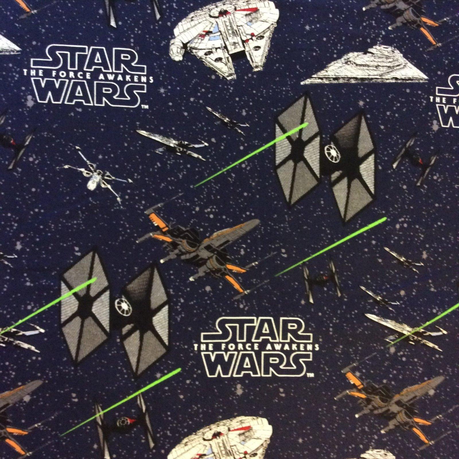 Star Wars The Force Awakens Empire Millennium Falcon Rebels Lucas Films Movie Cotton Quilt Fabric FT86