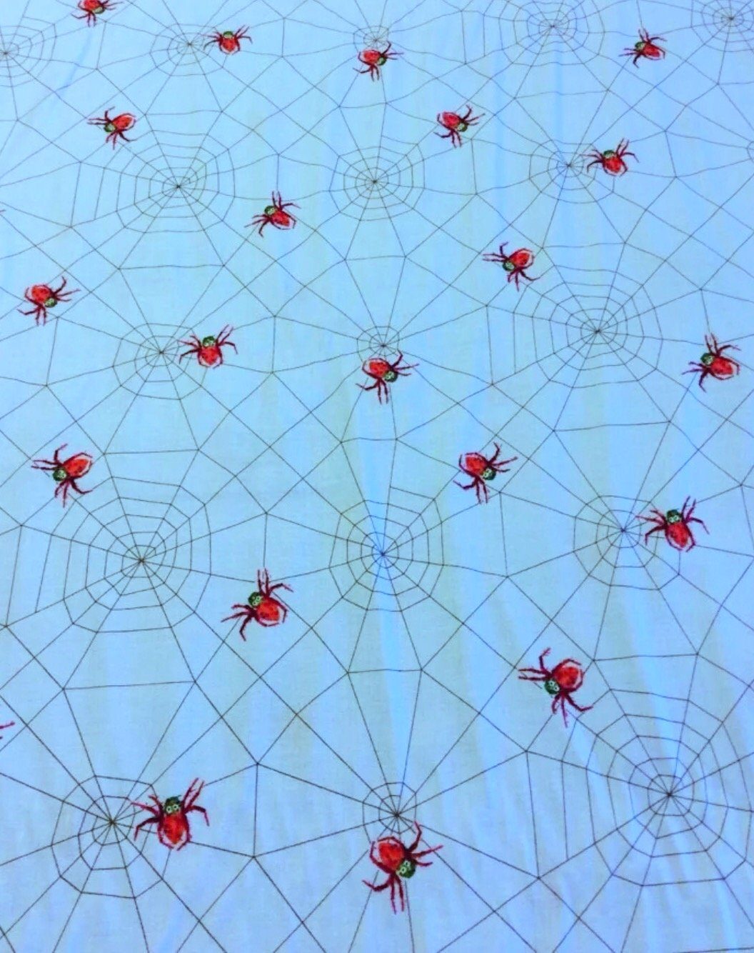 Eric Carle Spider Web Children's Book Retro Quilt Fabric Cotton Fabric Hungry Caterpillar FF26