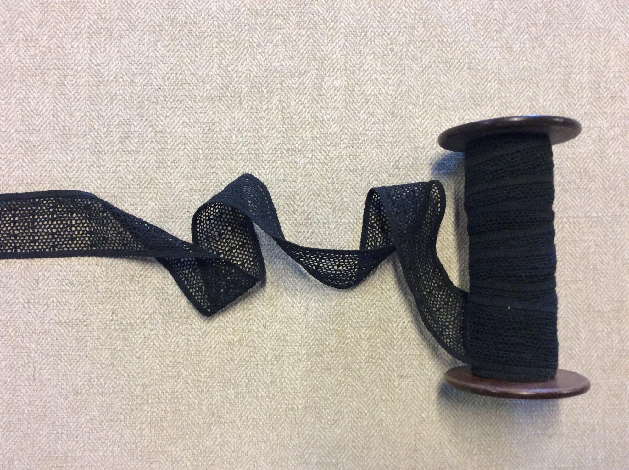 Contemporary Black lace Trim Apparel Net Cotton Ribbon TRIM985