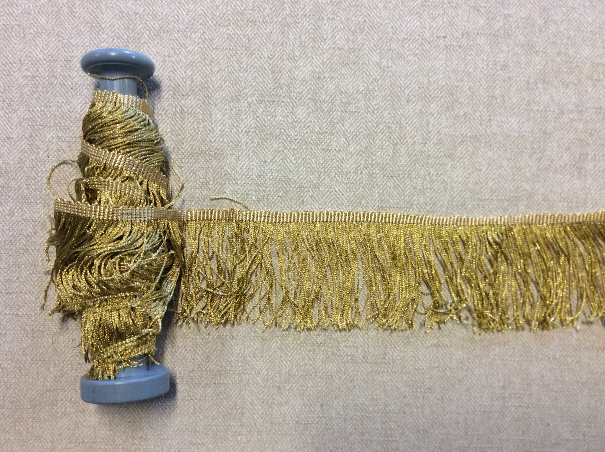 Metallic Gold Chainette Fringe Flapper Costume Appparel Trim TRIM1014